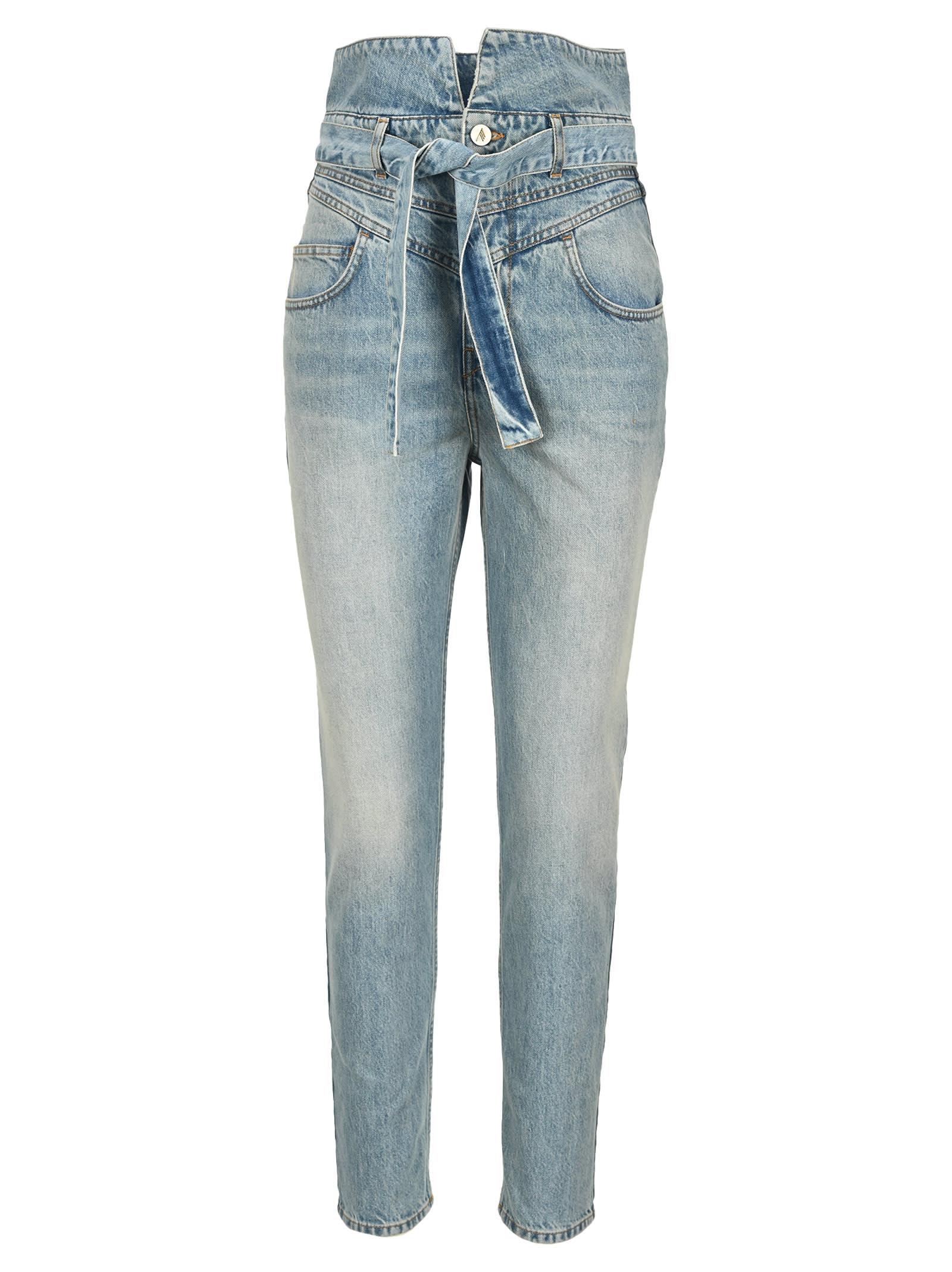 Attico Vivien Washed High-rise Jeans