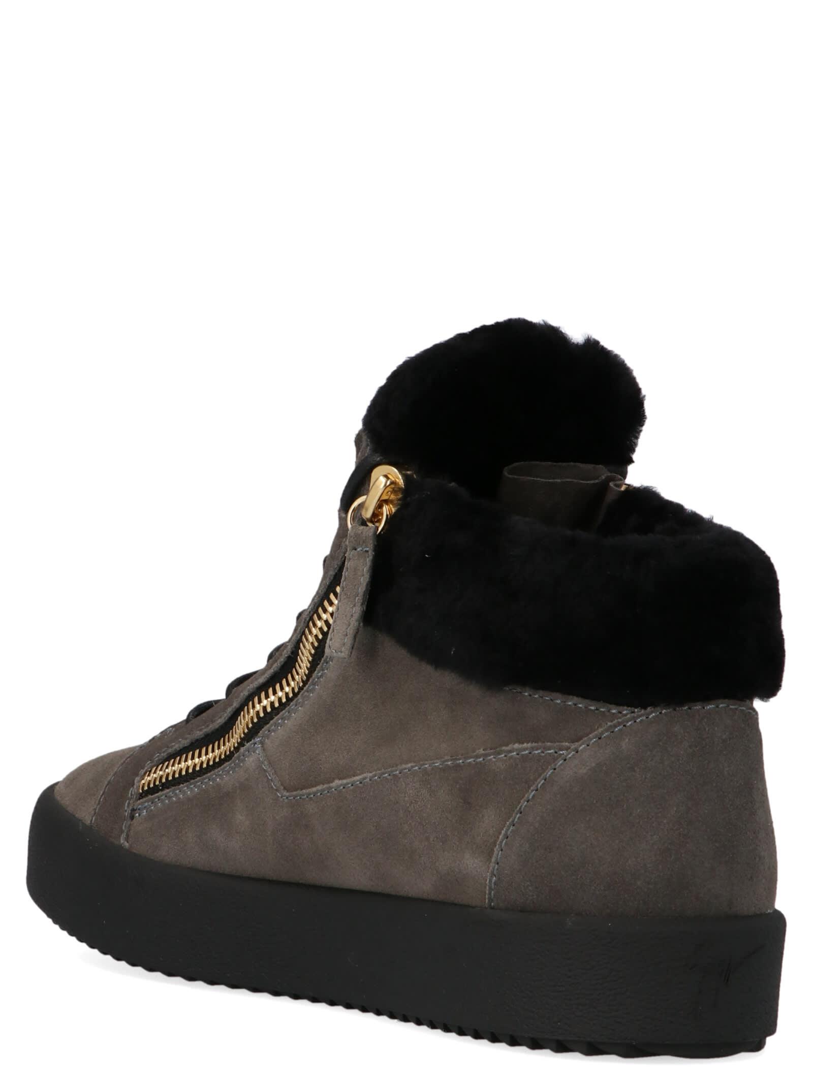 Giuseppe Zanotti Mens May London Shearling Sneaker