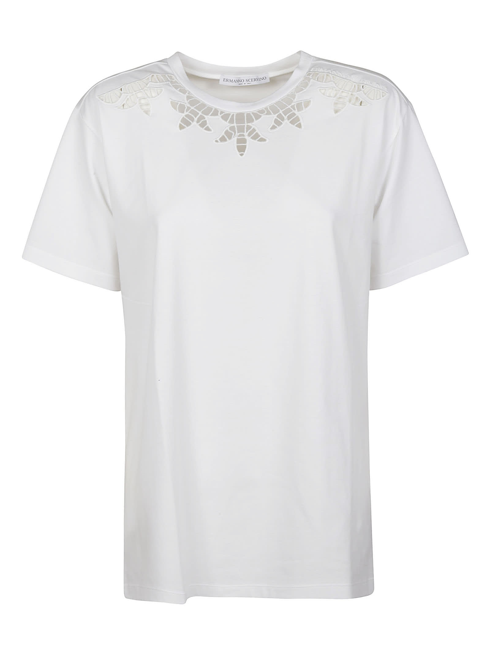 Ermanno Scervino Cottons PERFORATED T-SHIRT