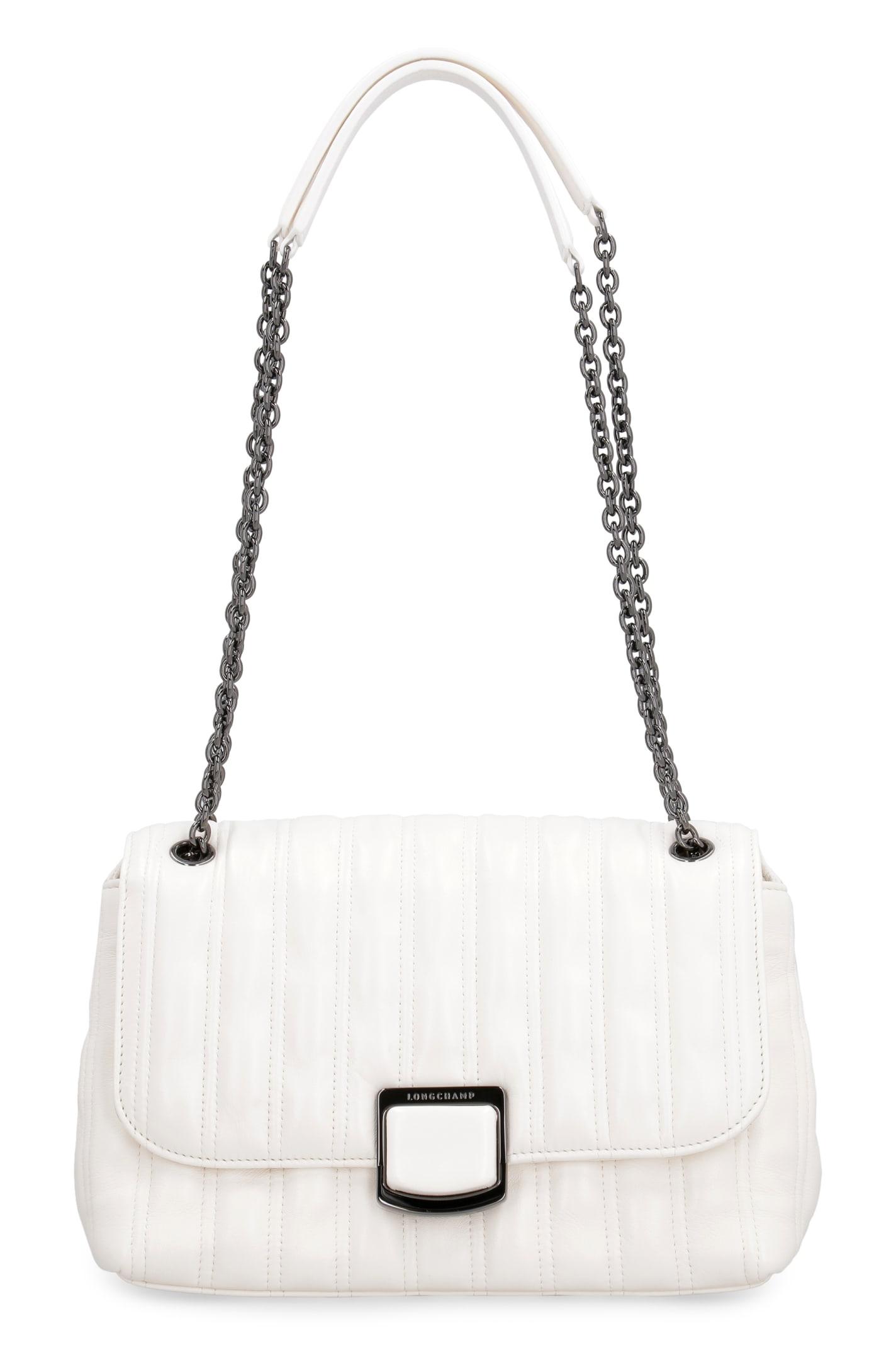 Longchamp BRIOCHE LEATHER SHOULDER BAG