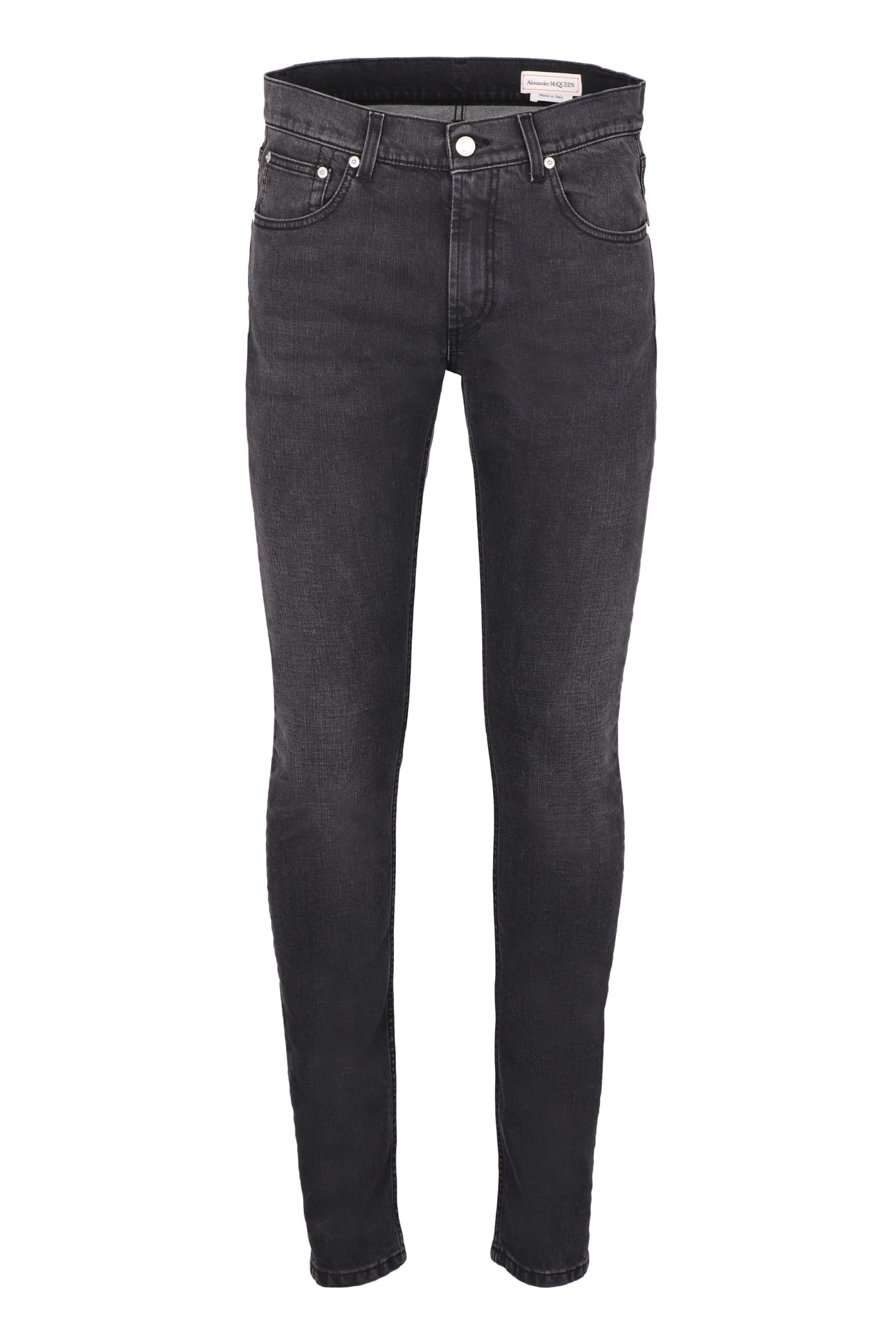 Alexander Mcqueen Straight jeans EMBROIDERED SLIM FIT JEANS