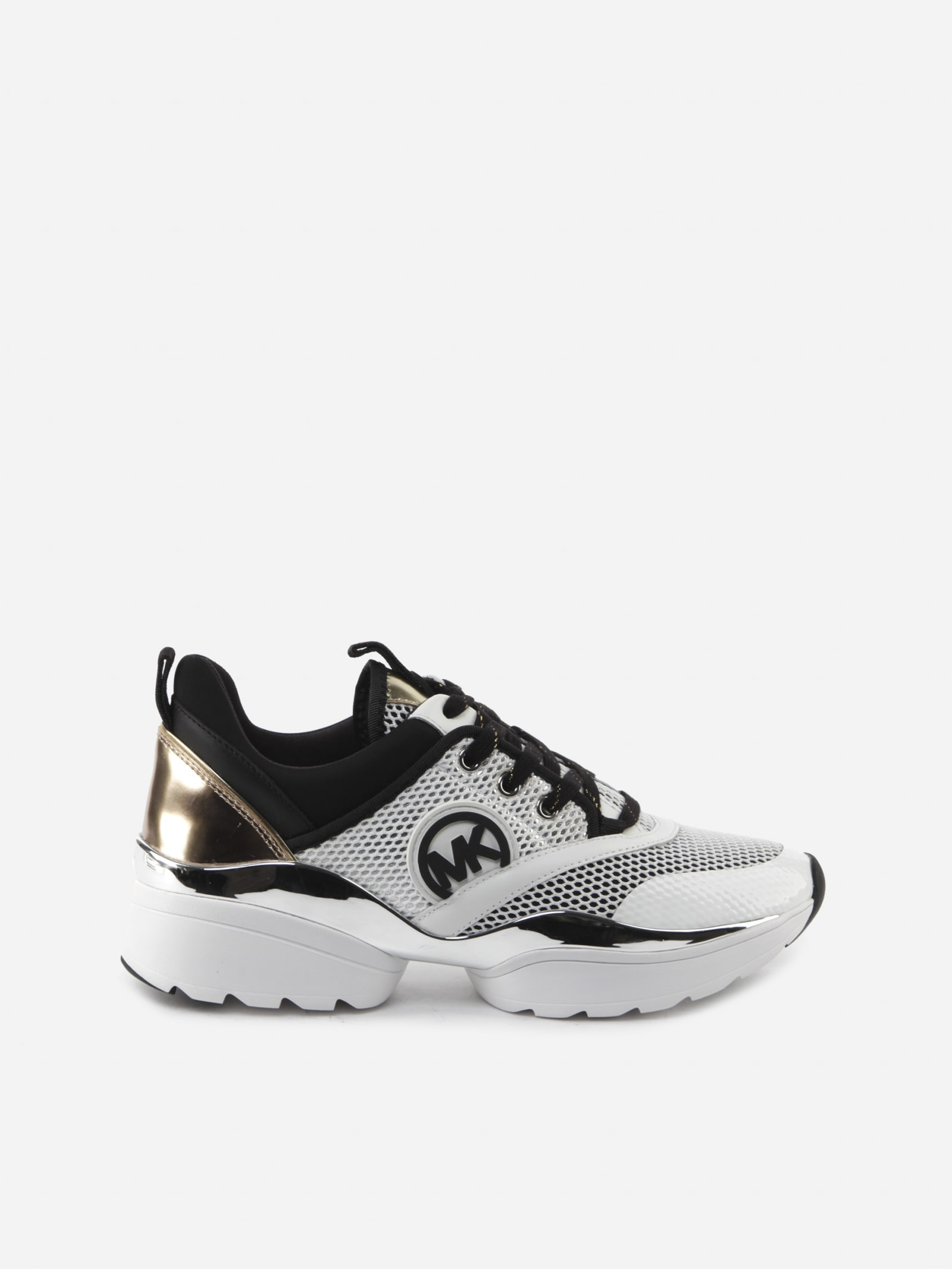 Buy MICHAEL Michael Kors Charlie Sneakers Made Of Scuba And Mesh online, shop MICHAEL Michael Kors shoes with free shipping