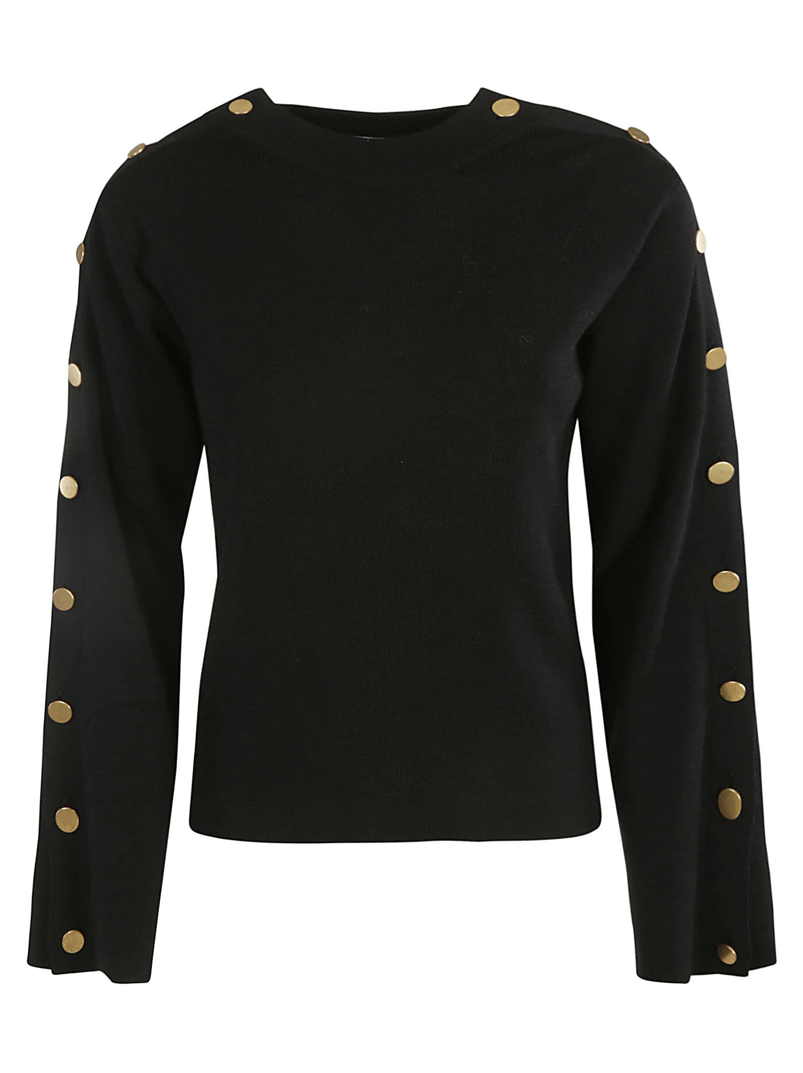 Button Sided Ribbed Sweater