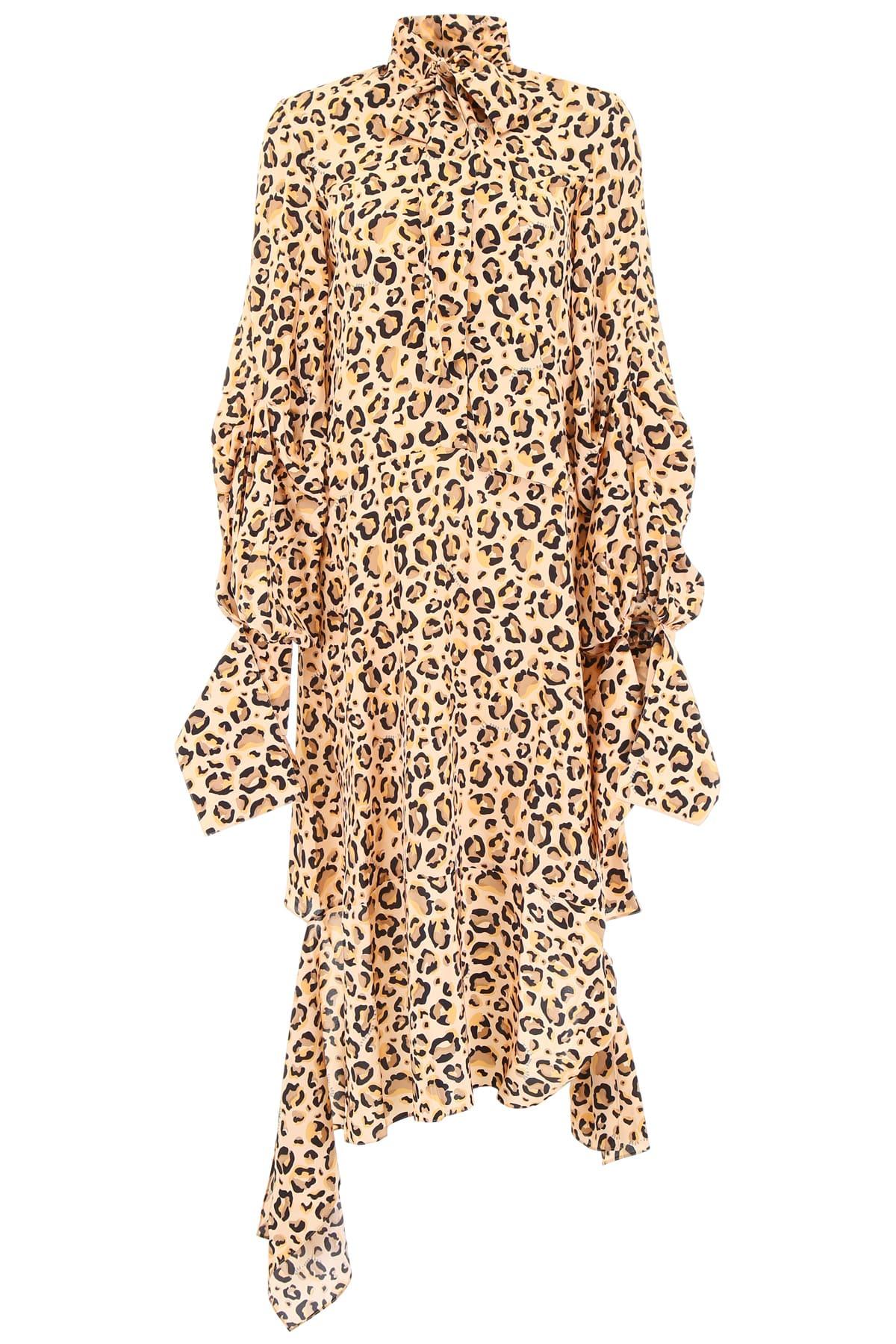 Buy Rokh Asymmetric Animalier Dress online, shop Rokh with free shipping