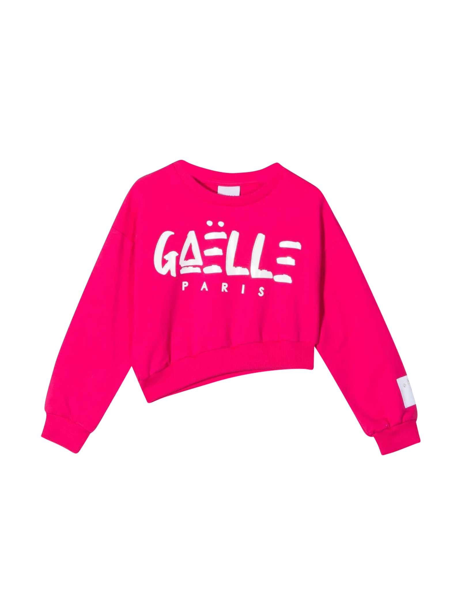 Teen Crop Sweatshirt With Print