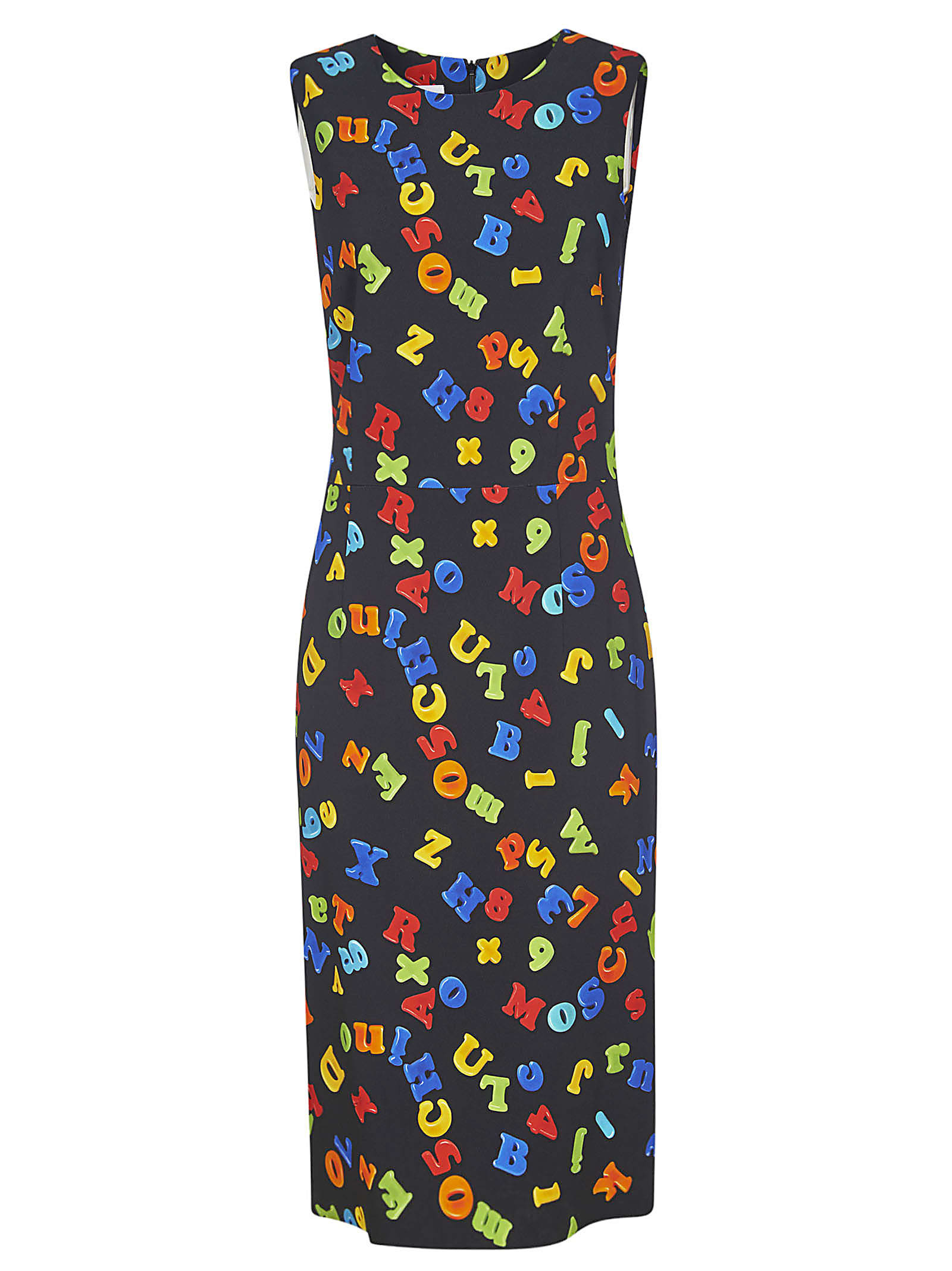 Buy Moschino All-over Printed Sleeveless Dress online, shop Moschino with free shipping