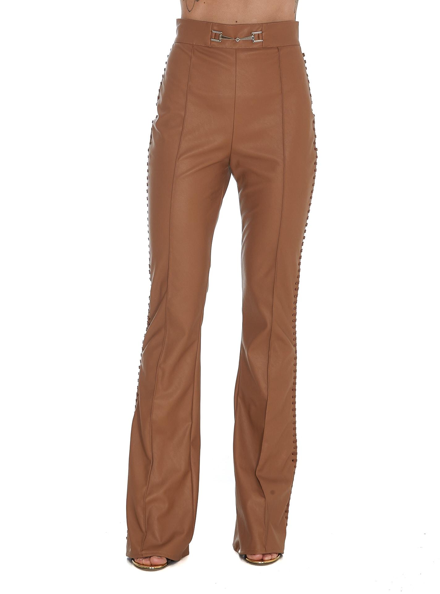 Elisabetta Franchi Pants In Brown