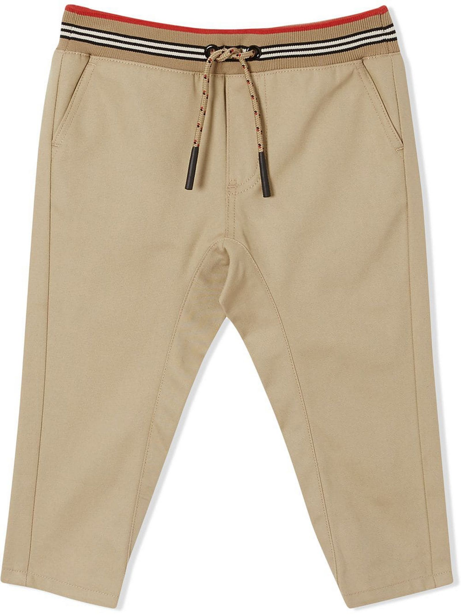 BURBERRY HONEY BEIGE COTTON TROUSERS