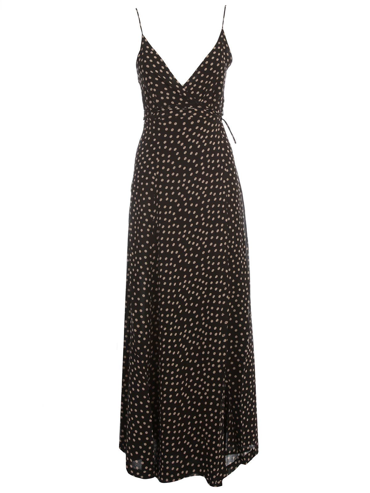 Buy Ganni Printed Georgette Dress Thin Strap online, shop Ganni with free shipping