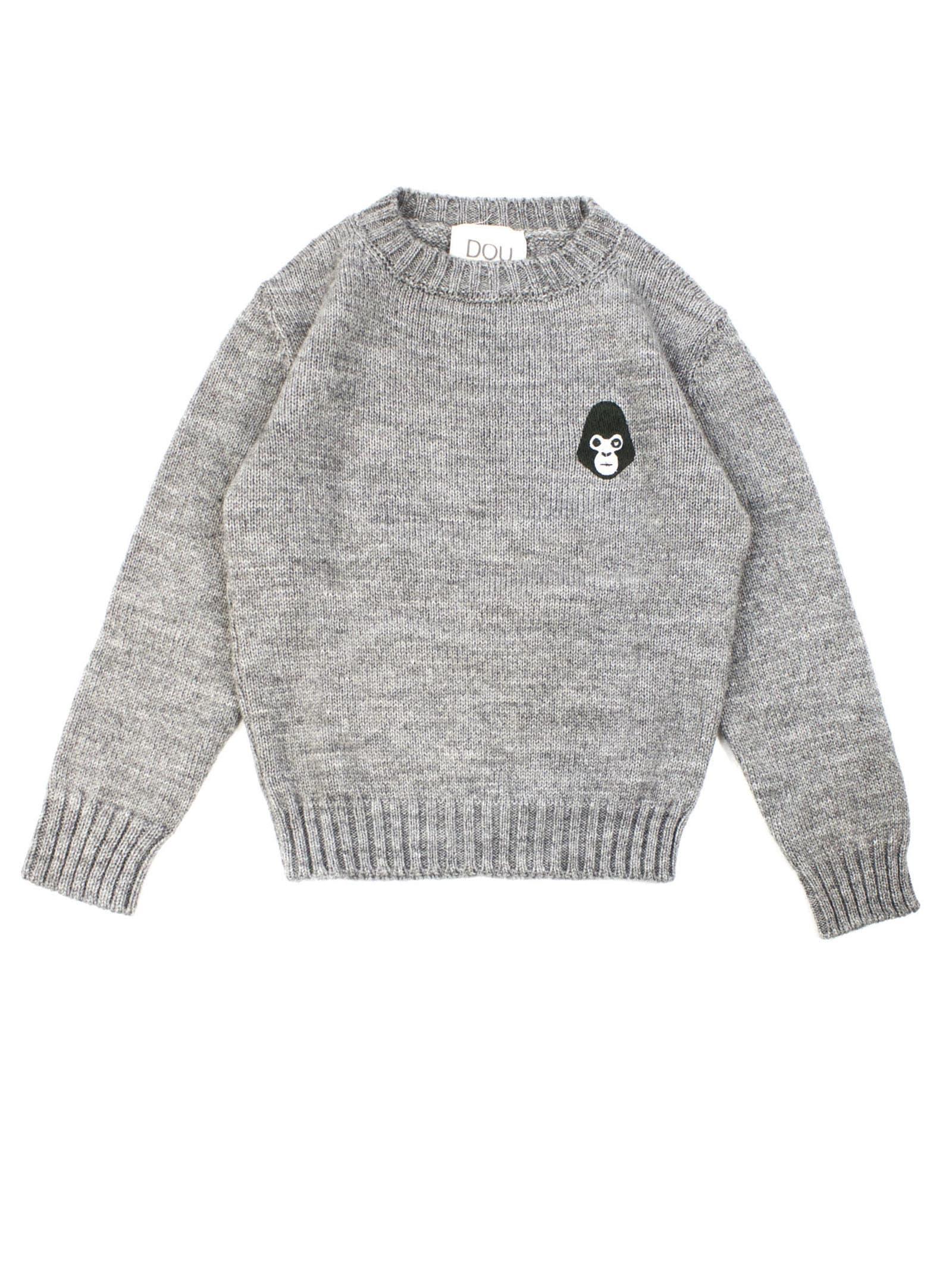 Grey Alpaca And Wool Neck Jumper