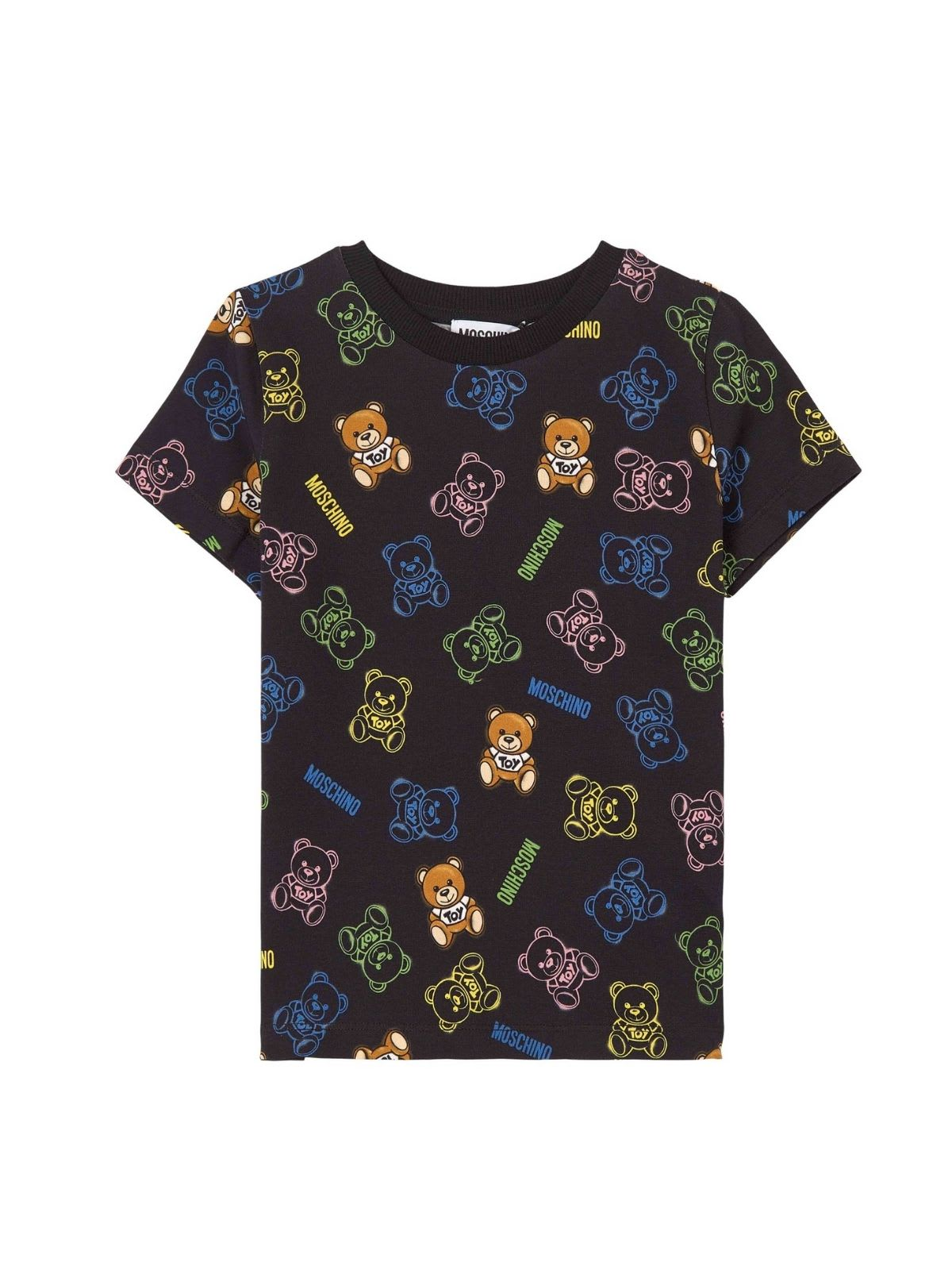 Moschino Cottons ALL OVER TEDDY T-SHIRT