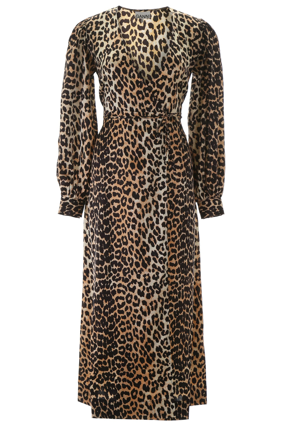Leopard-printed Wrap Dress