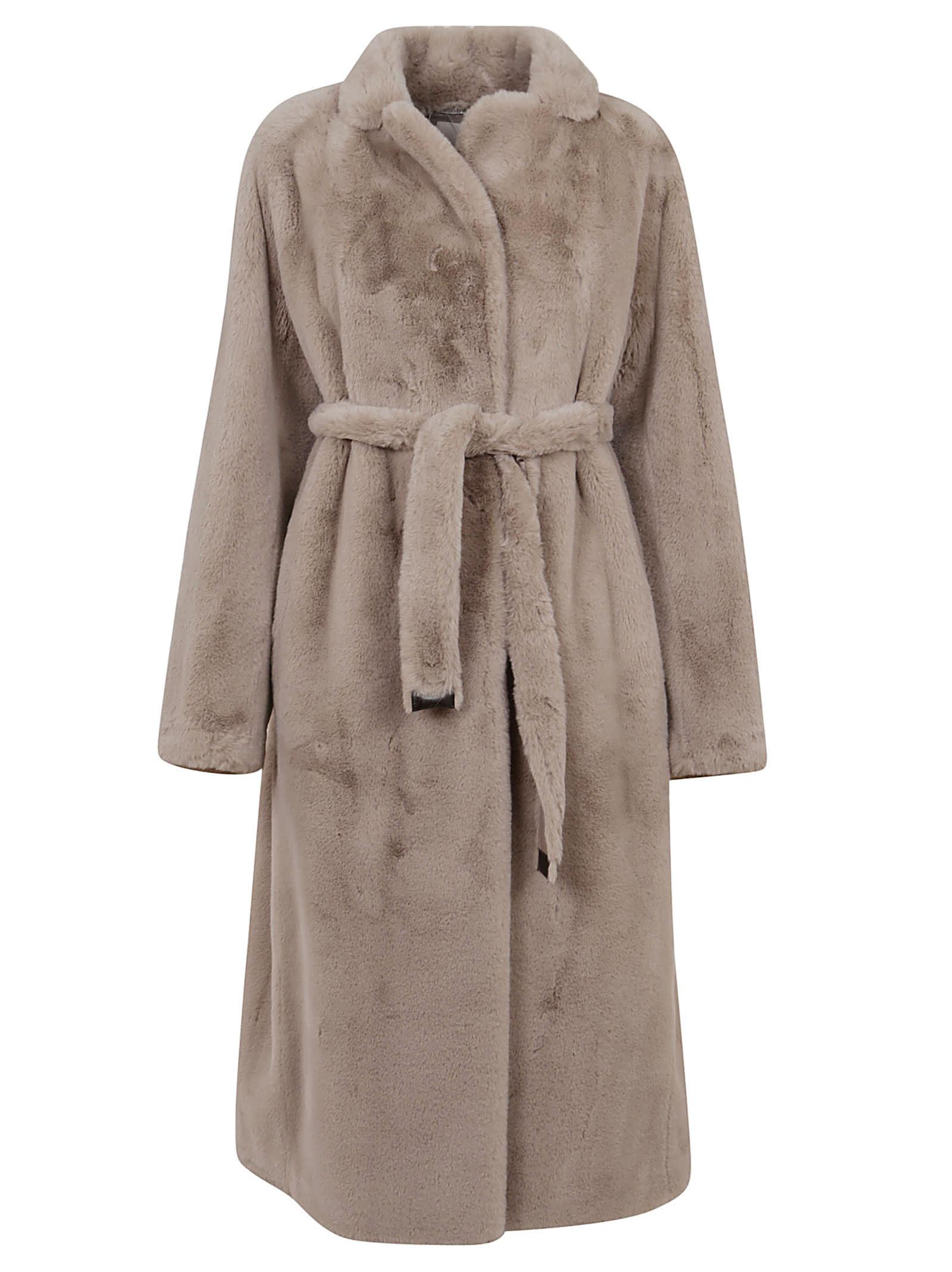 Beige Faux Fur Coat