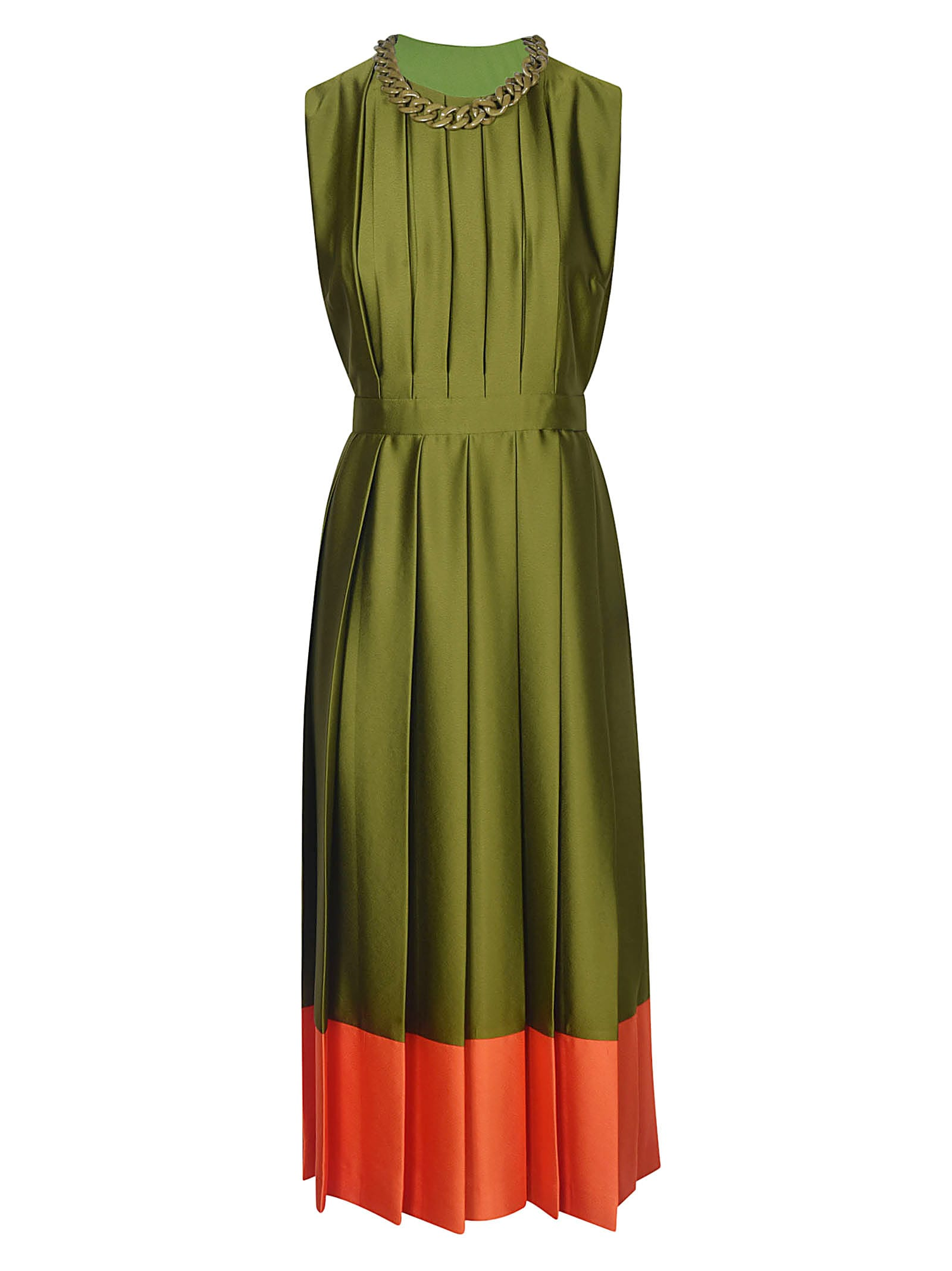 Buy MSGM Pleated Sleeveless Dress online, shop MSGM with free shipping