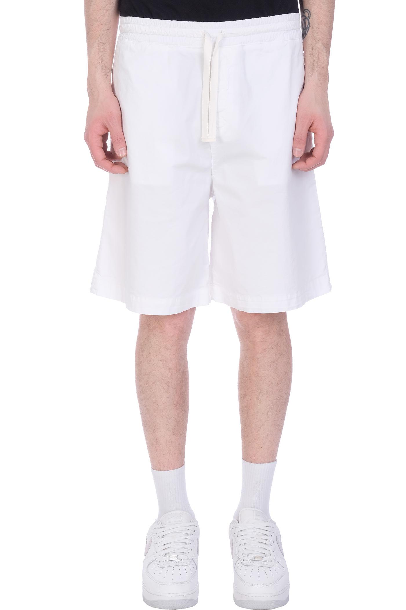 Baviera Shorts In White Cotton