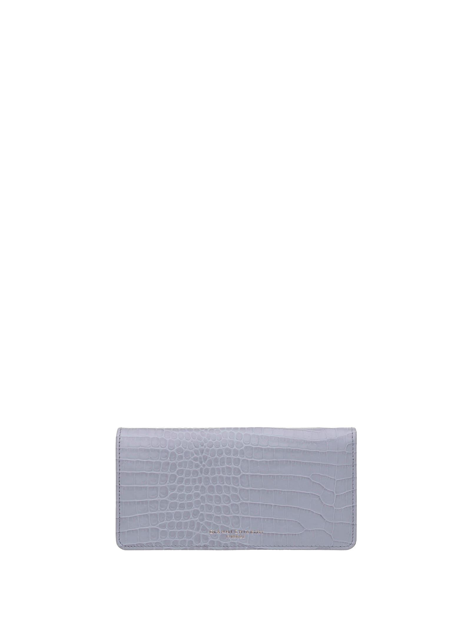 Gianni Chiarini Cocco-print Wallet In Polvere