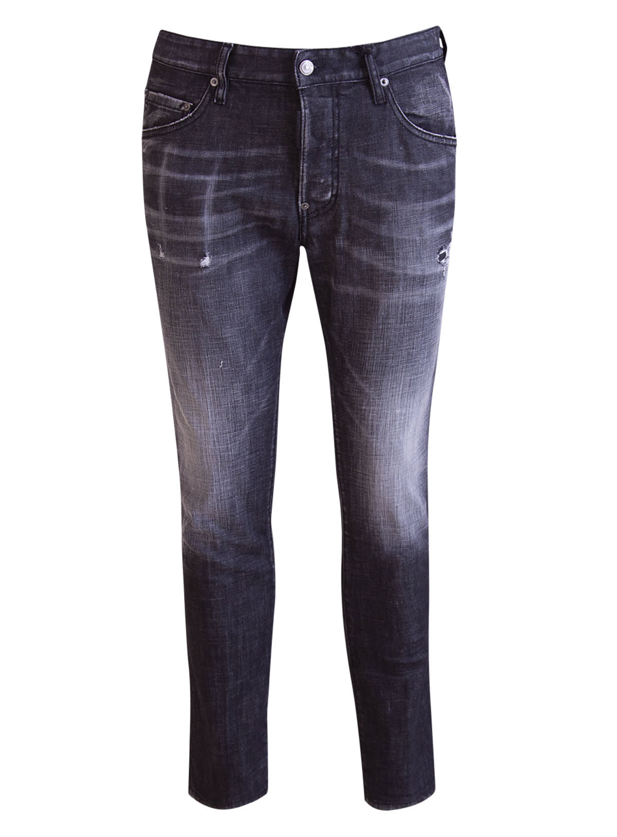Dsquared2 Cottons DSQUARED DISTRESSED SLIM-FIT JEANS