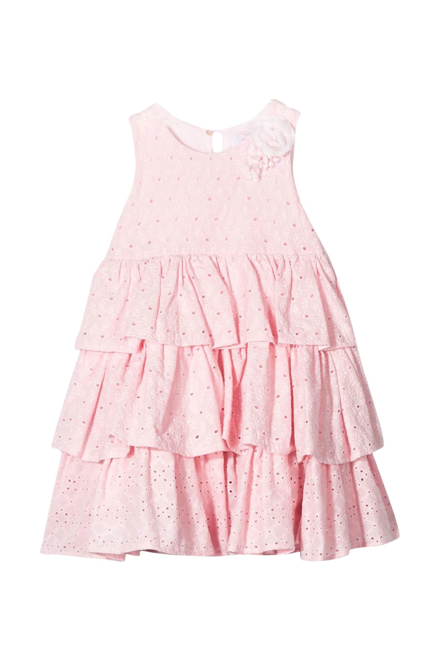 Buy Monnalisa Layered Ruffle Dress online, shop Monnalisa with free shipping