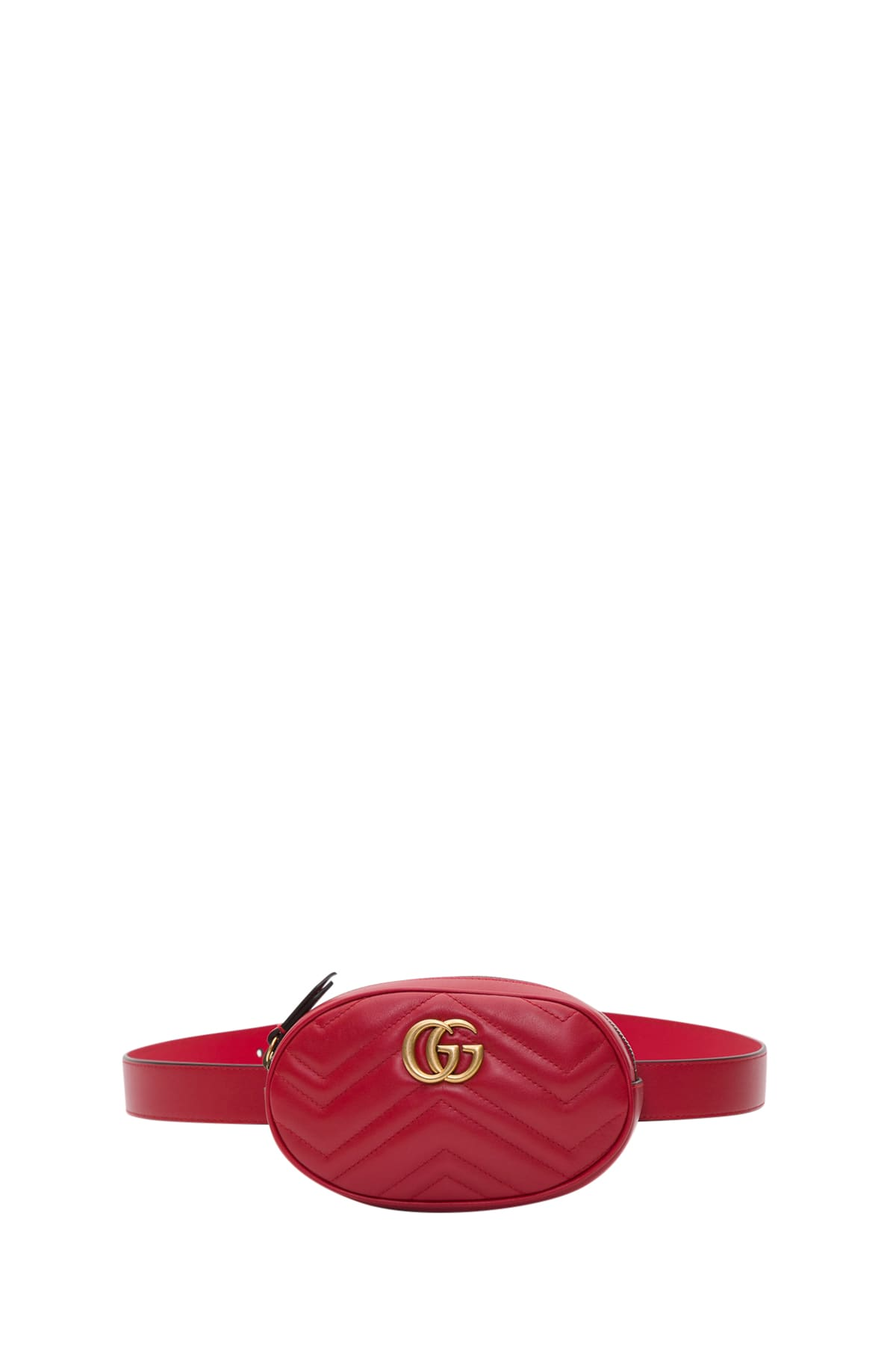 Gucci Gg Marmon Belt Bag In Chevron Leather