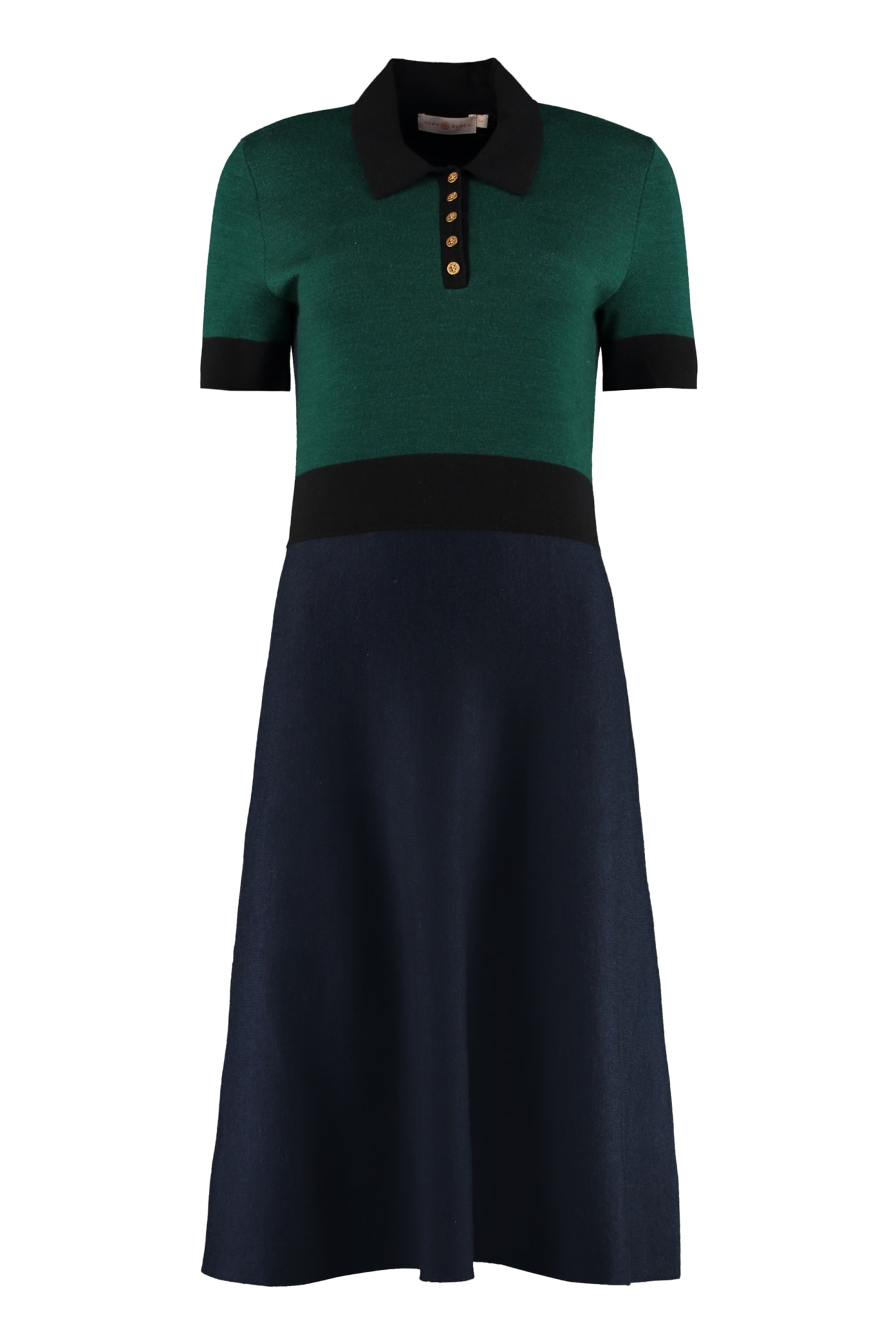 Buy Tory Burch Color-block Sweater Dress online, shop Tory Burch with free shipping