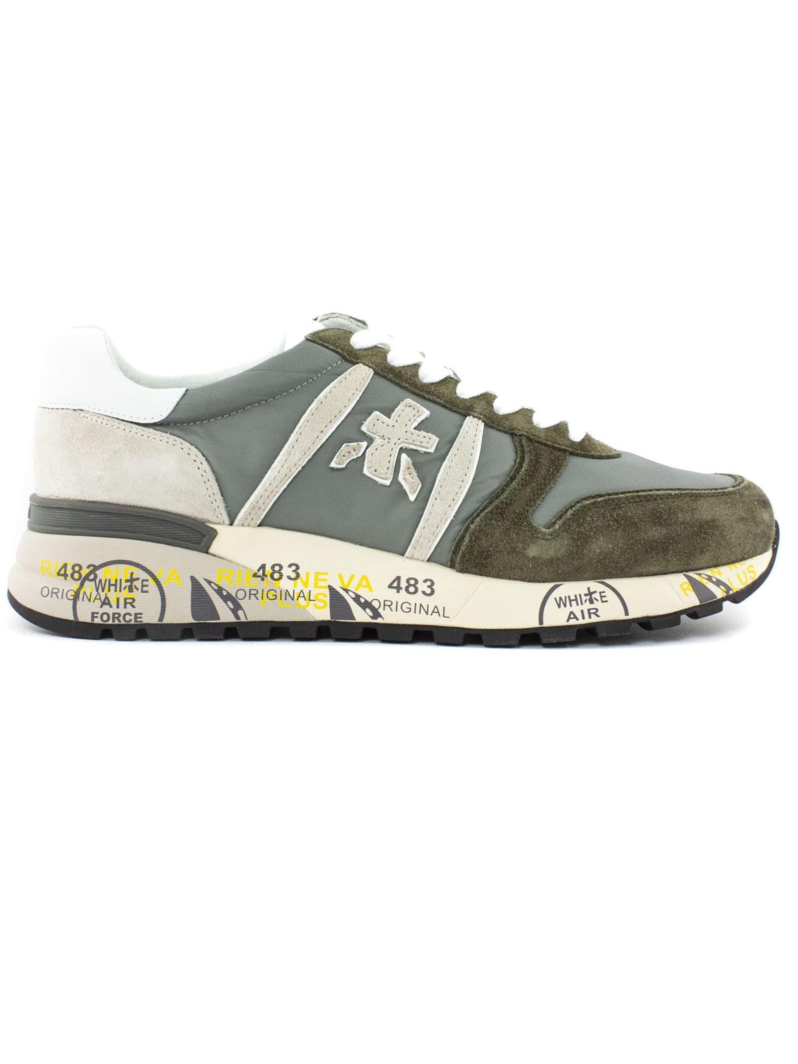 Premiata Shoes GREY LANDER SNEAKERS