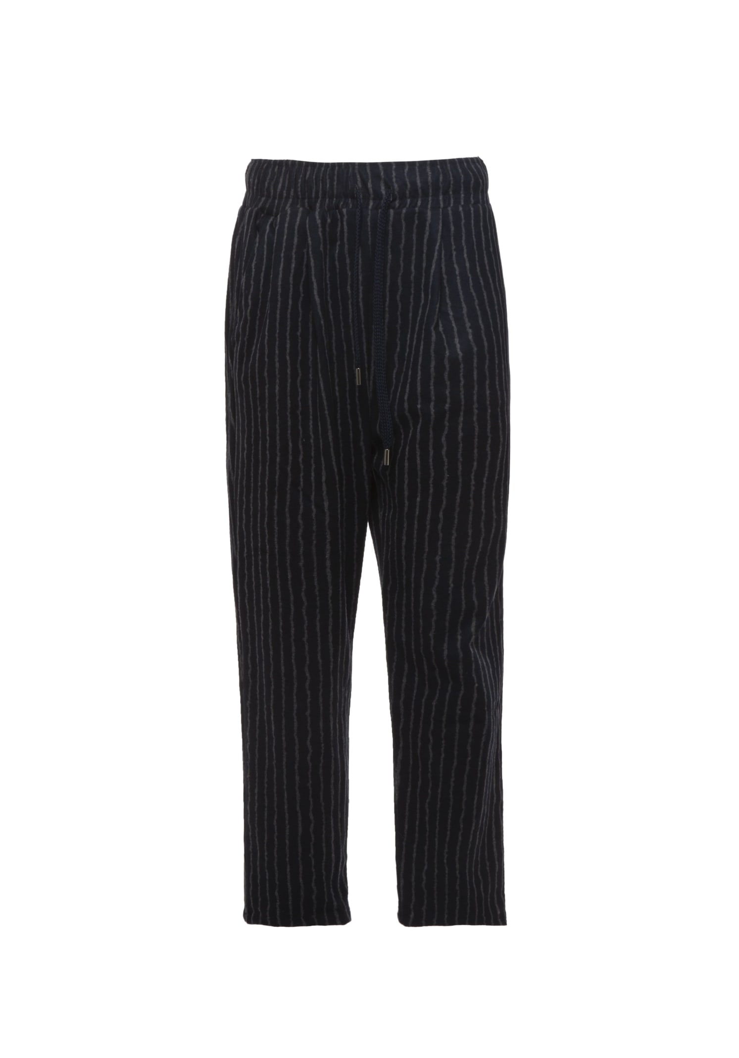 Pants Chino Striped Grey Blue