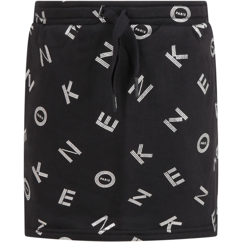 Black Short For Girl With Logos