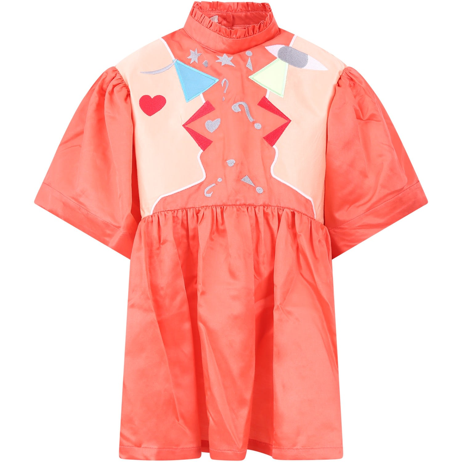 Raspberry Plum Pink hannahgirl Dress With Colorful Figures