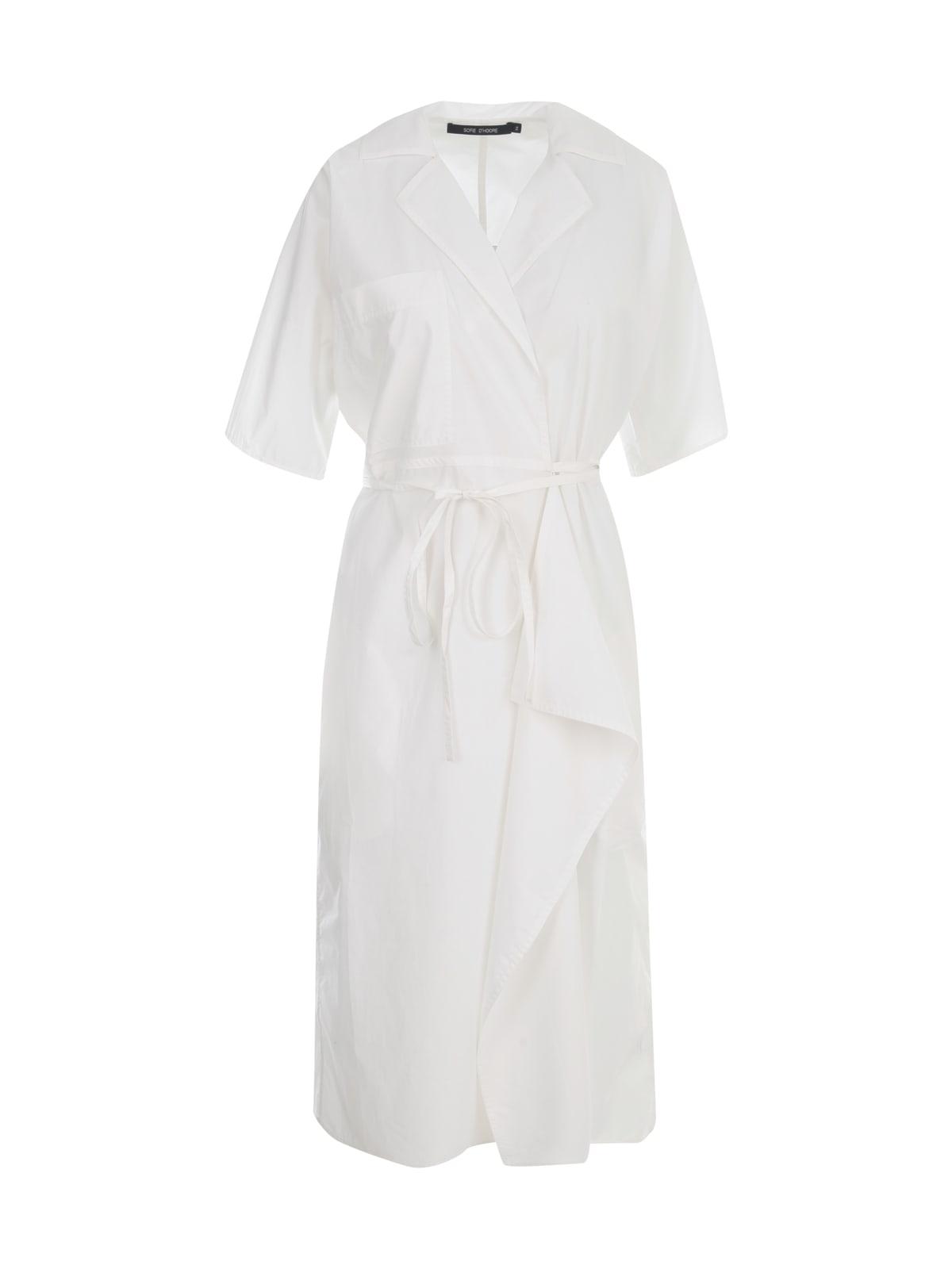 Sofie D'hoore S/S WRAP AROUND DRESS W/WAVY DETAIL ON SKIRT