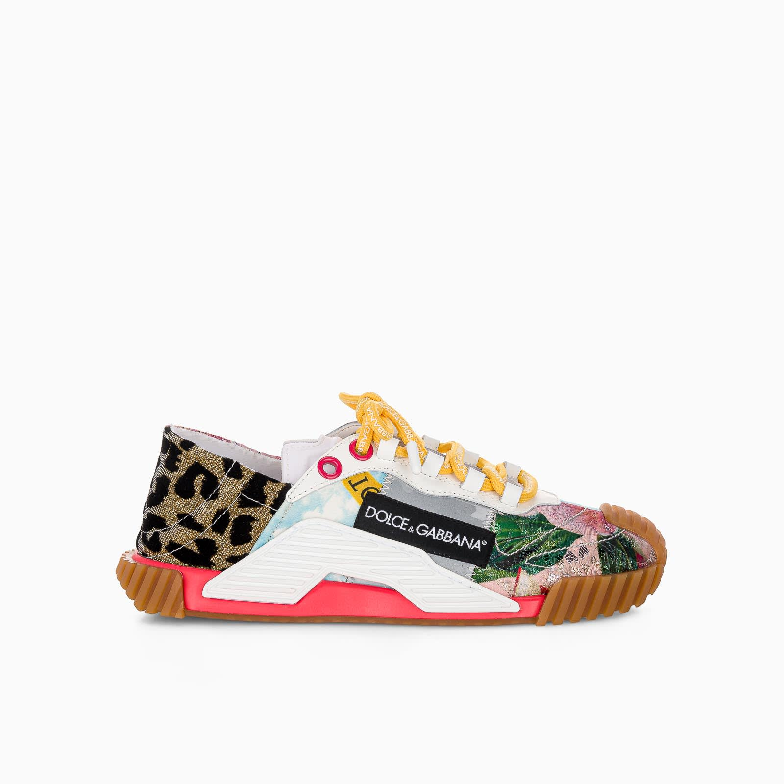 Buy Dolce & Gabbana Dolce & gabbana Patchwork Fabric Ns1 Slip-on Sneakers online, shop Dolce & Gabbana shoes with free shipping