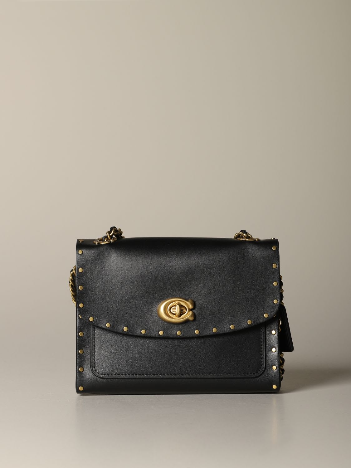 Coach Crossbody Bags Parker 18 Coach Bag In Leather With Rivets