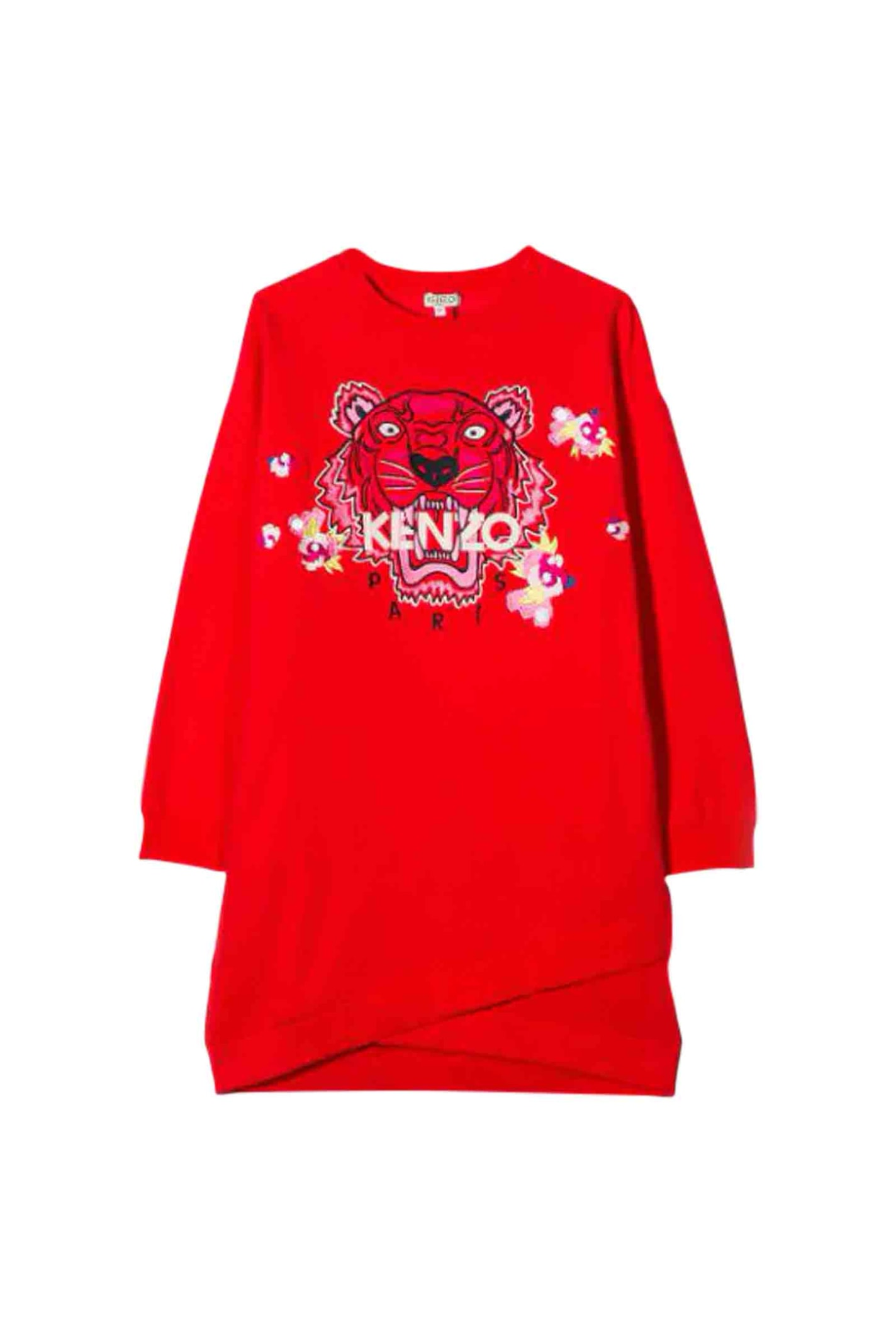 Buy Kenzo Tiger Embroidery Dress online, shop Kenzo with free shipping