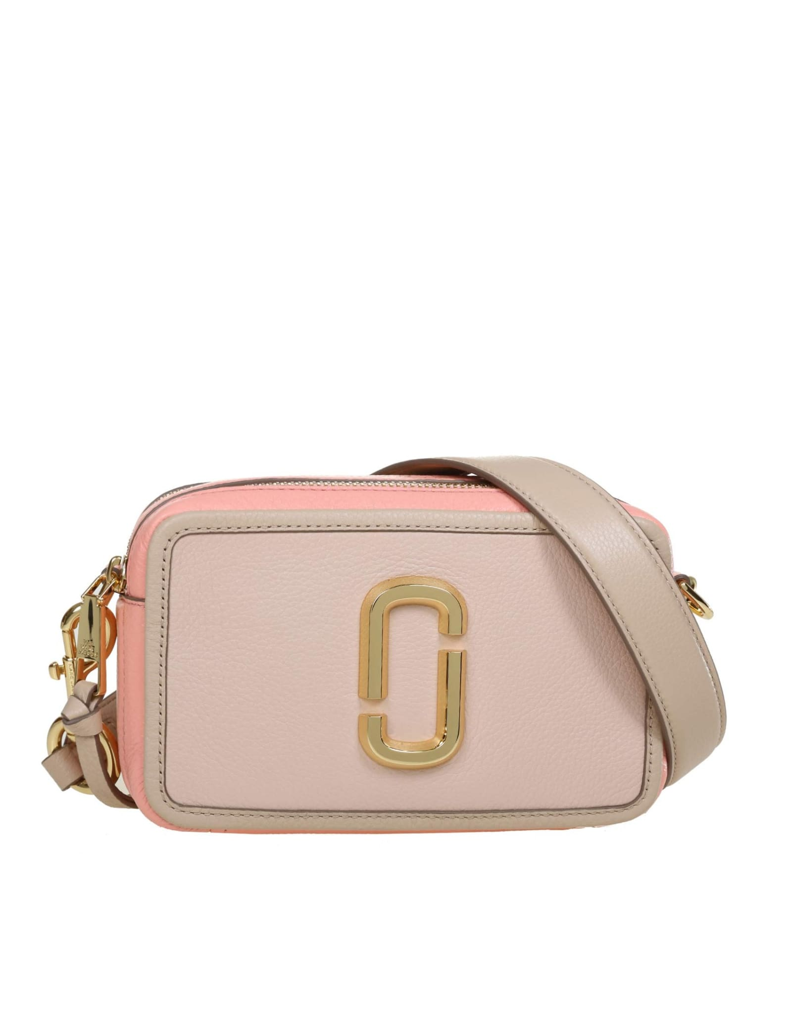 Marc Jacobs The Quilted In Apricot Color Leather