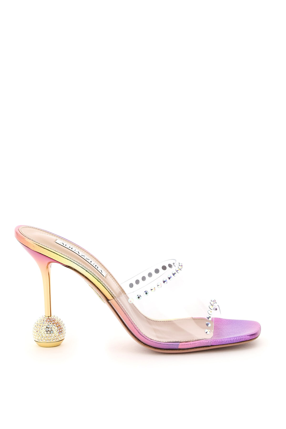 Aquazzura Shoes PVC CRYSTAL SECRETS MULES 95