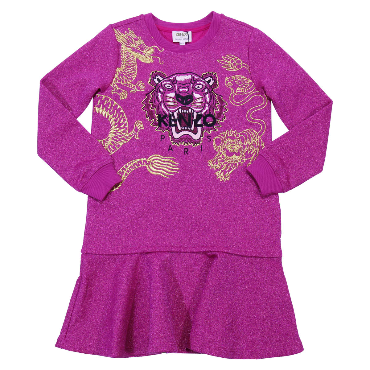 Kenzo Kenzo Fuchsia Dress Limited Edition Chinese New Year In Cotton Blend