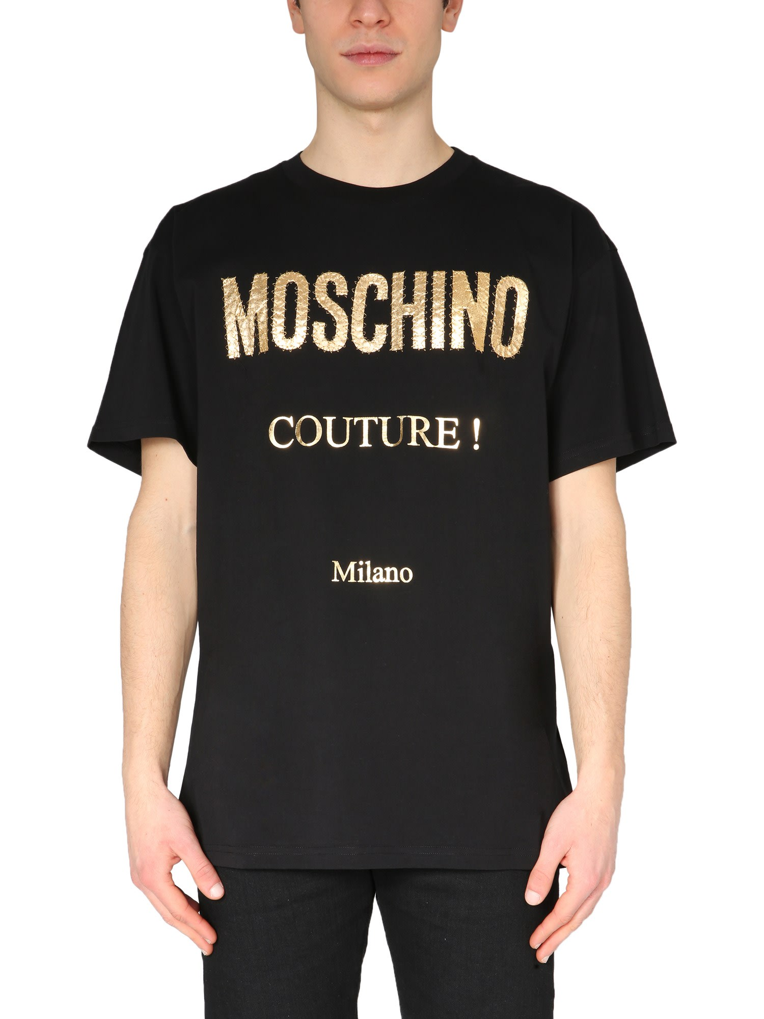Moschino Cottons OVERSIZE FIT T-SHIRT WITH LAMINATED PRINT