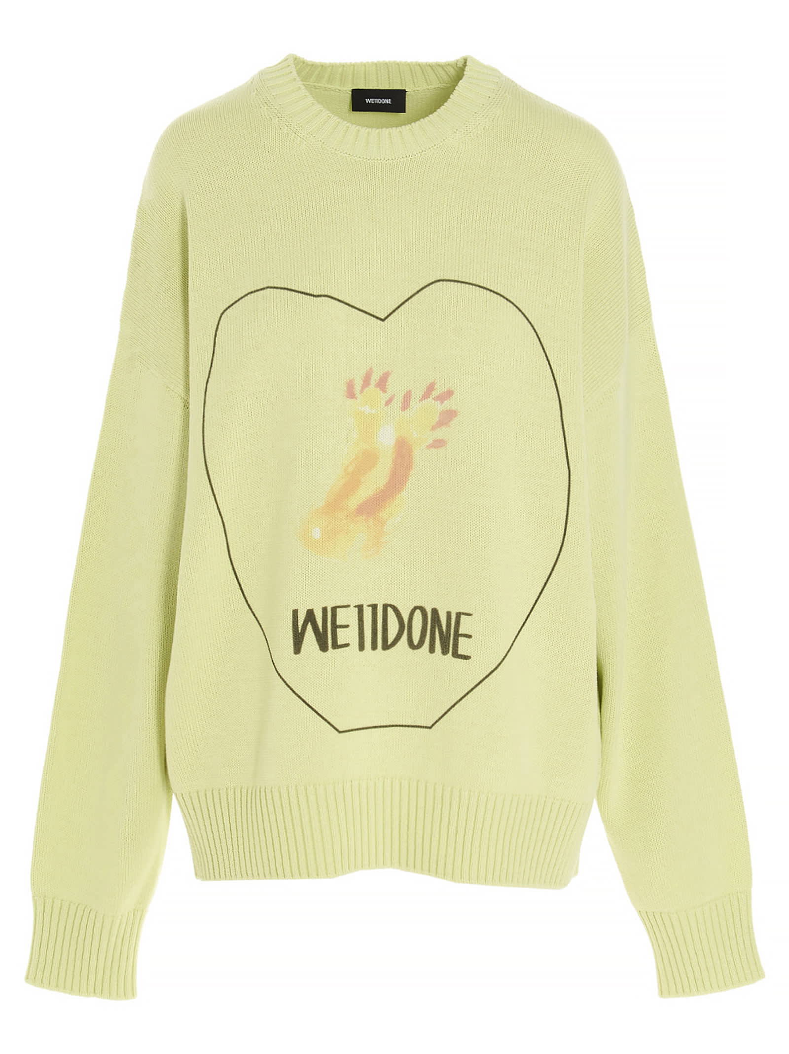 We11 Done WE11 DONE HEART LOGO SWEATER