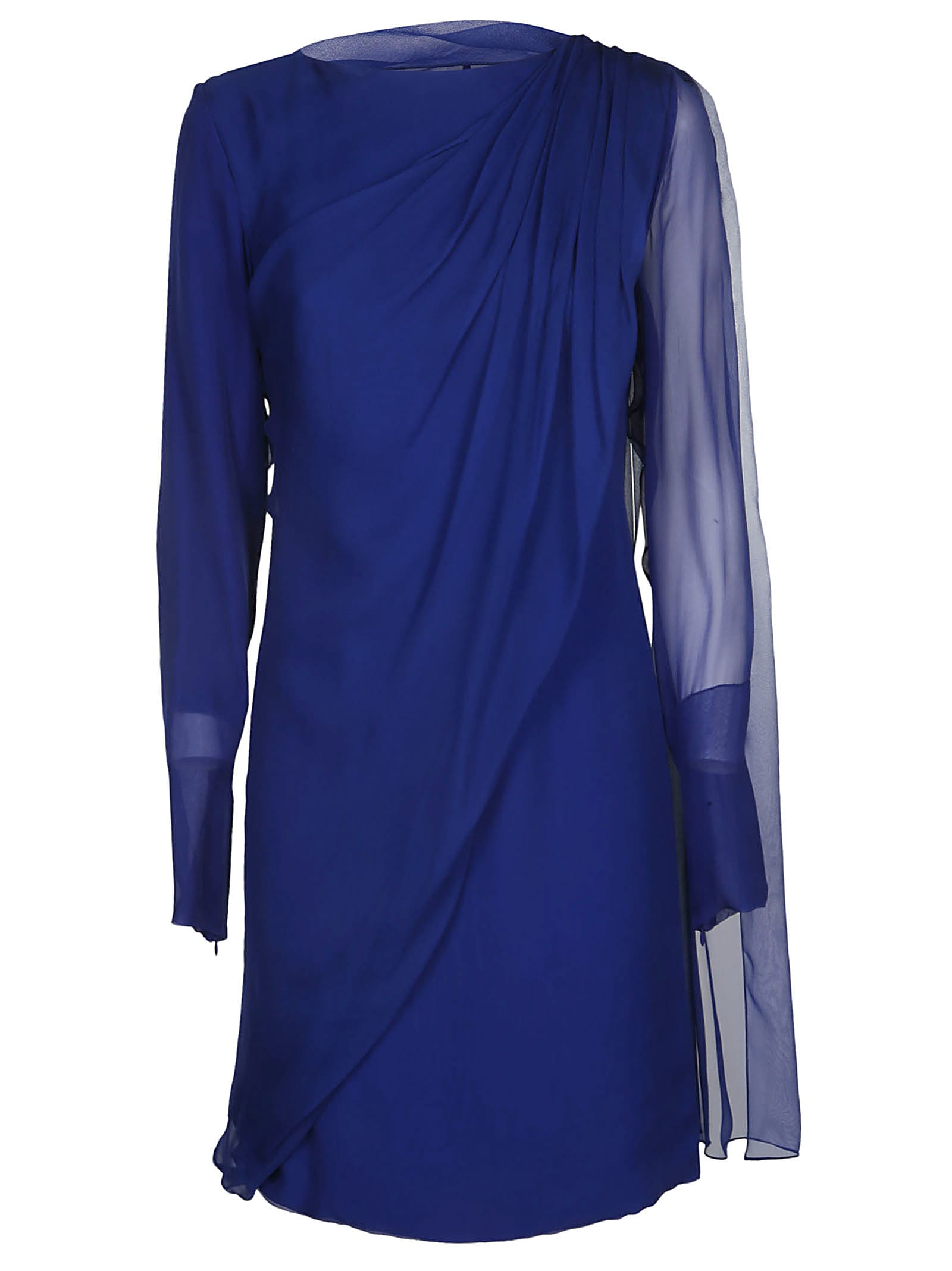 Buy Lanvin Long-sleeved Mid-length Dress online, shop Lanvin with free shipping