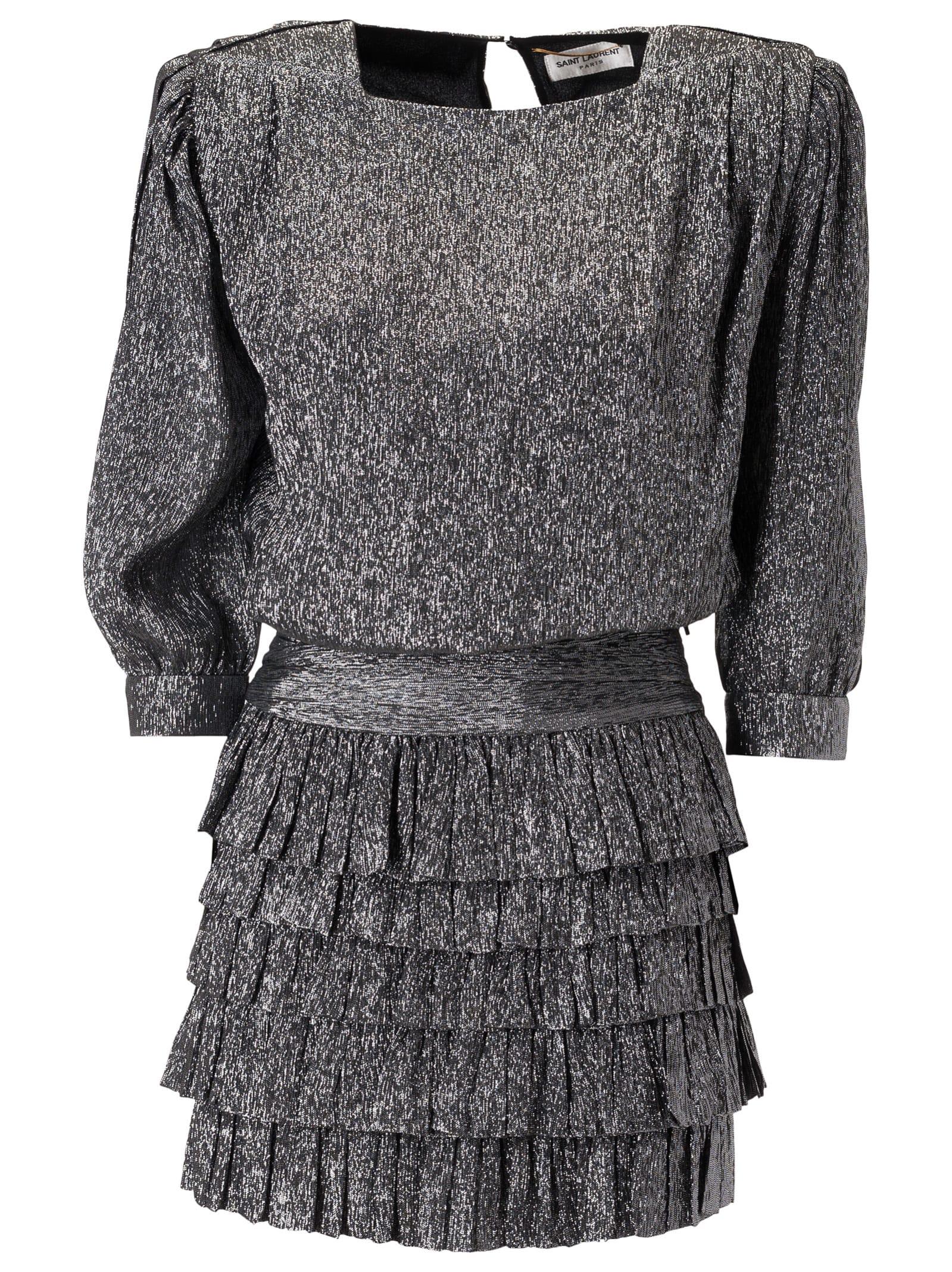 Buy Saint Laurent Layered Dress online, shop Saint Laurent with free shipping