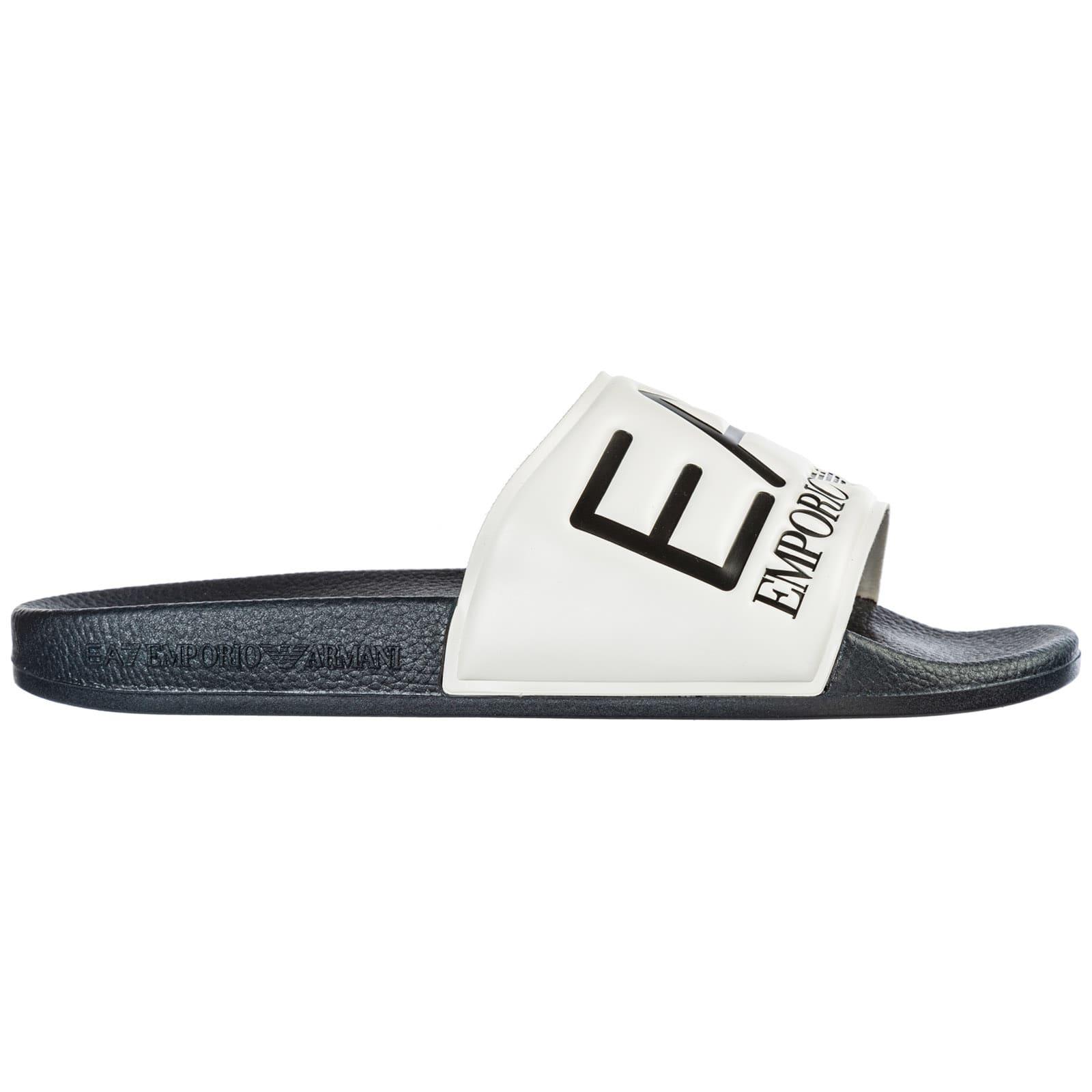 Ea7 Emporio Armani  H357 Slides In Bianco