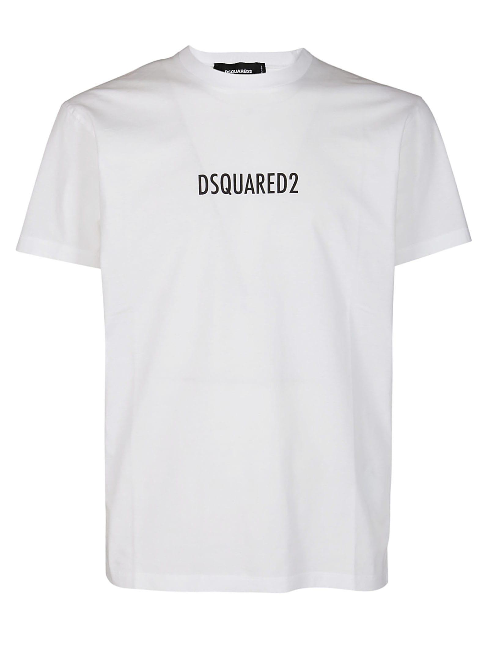Dsquared2 Cottons WHITE COTTON T-SHIRT