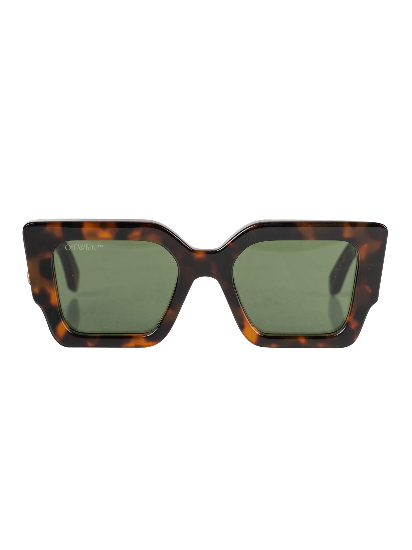 Off-white Catalina Sunglasses In Brown/green