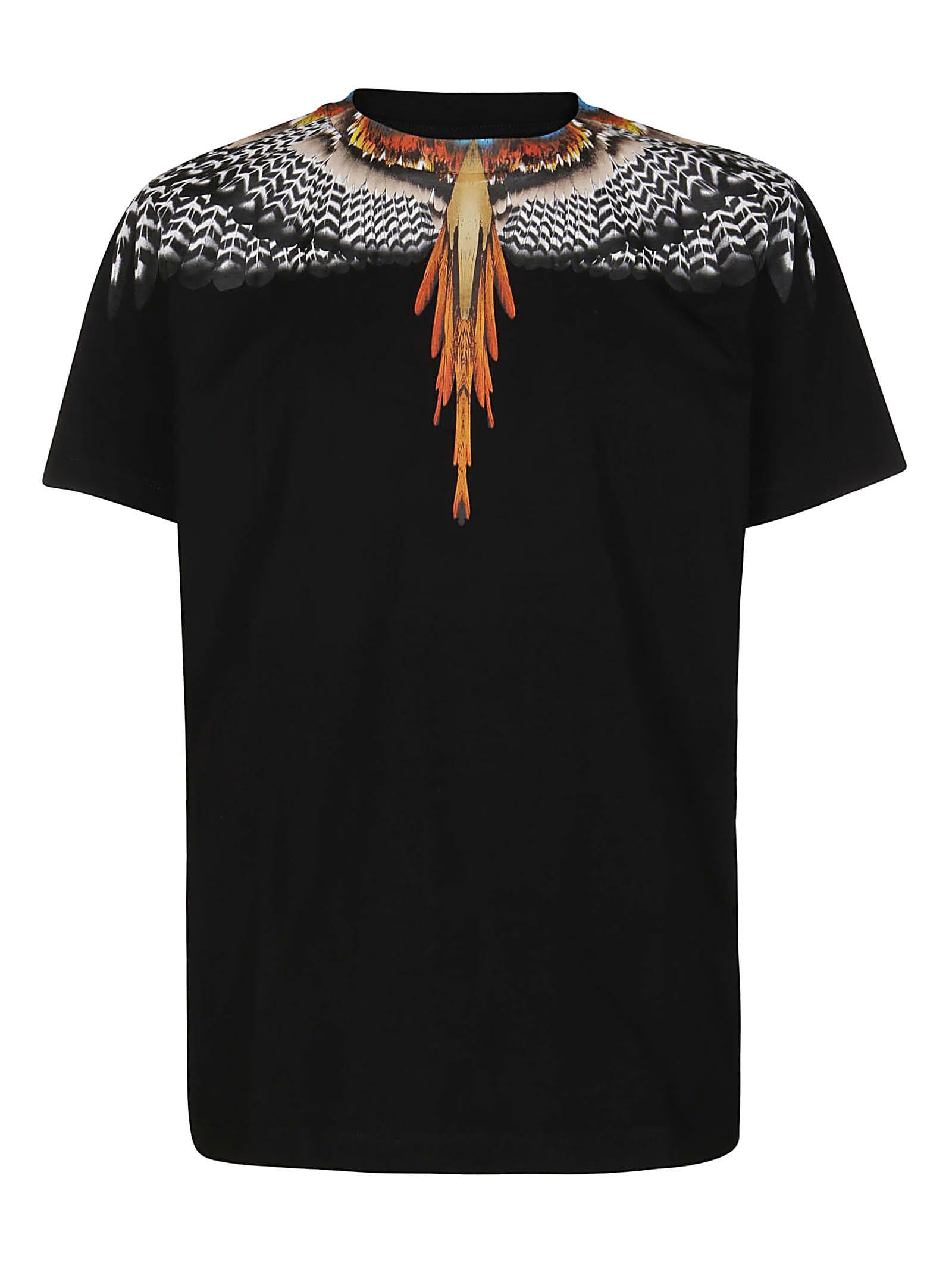 Marcelo Burlon County Of Milan Cottons BLACK COTTON WINGS T-SHIRT