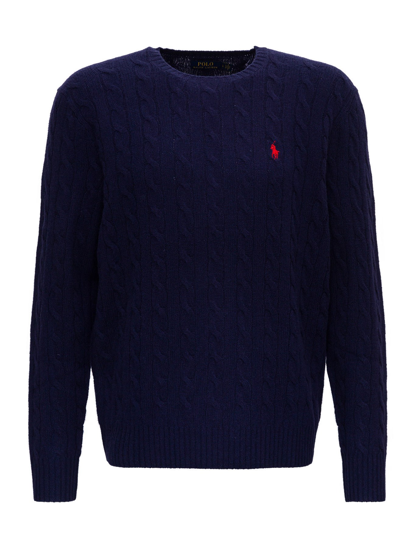 Sweater In Cable Stitched Wool Polo Ralph Lauren