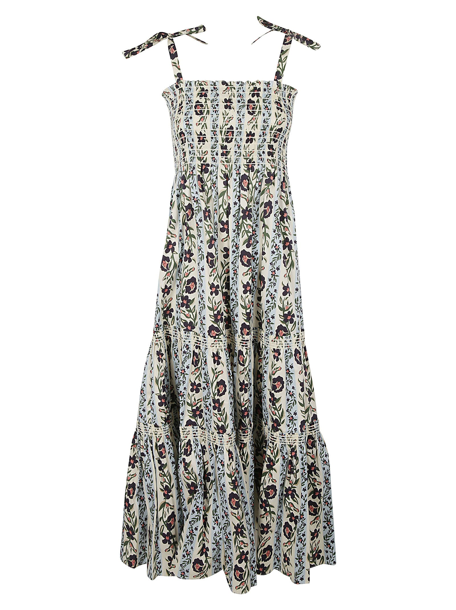 Buy Printed Tie-shoulder Dress online, shop Tory Burch with free shipping