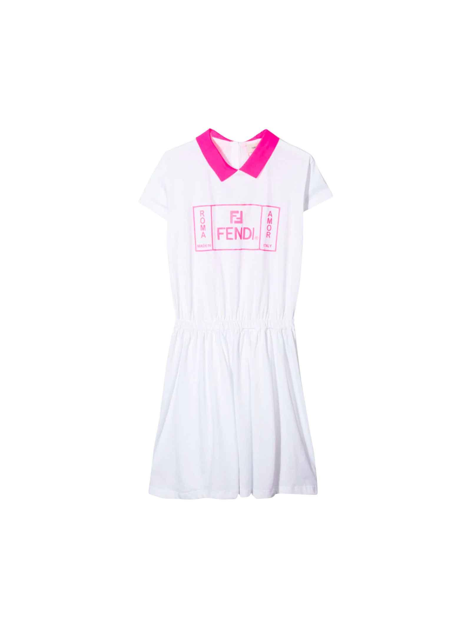 Fendi White Dress Girls
