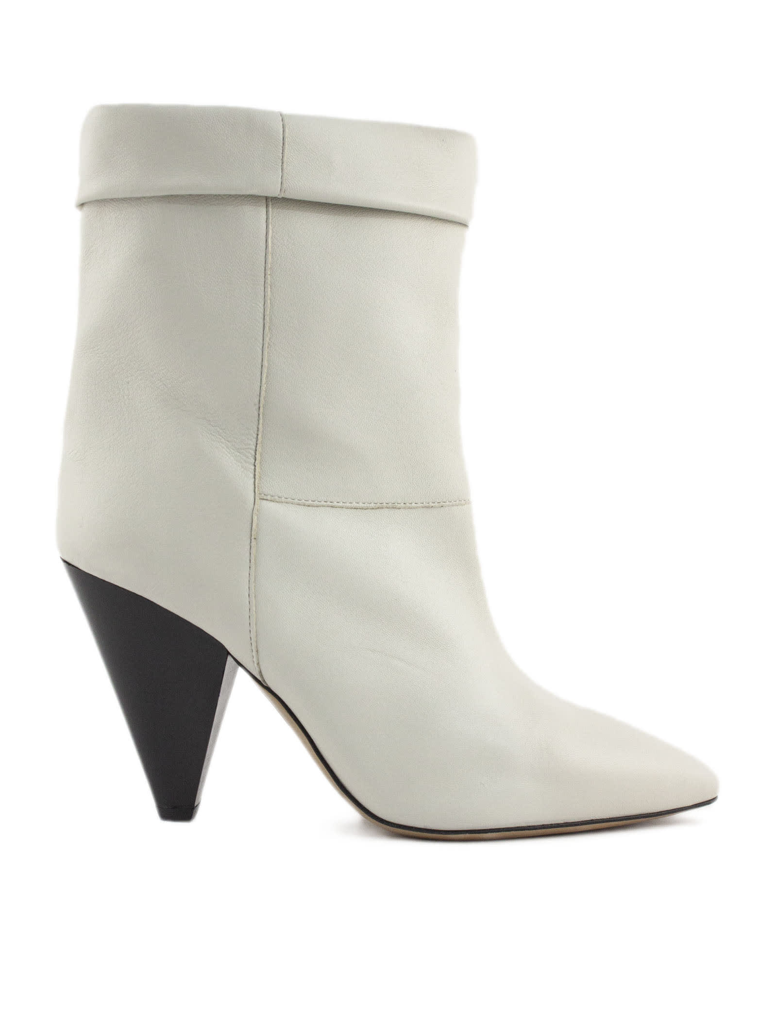 Isabel Marant White Tapered Heel Boots