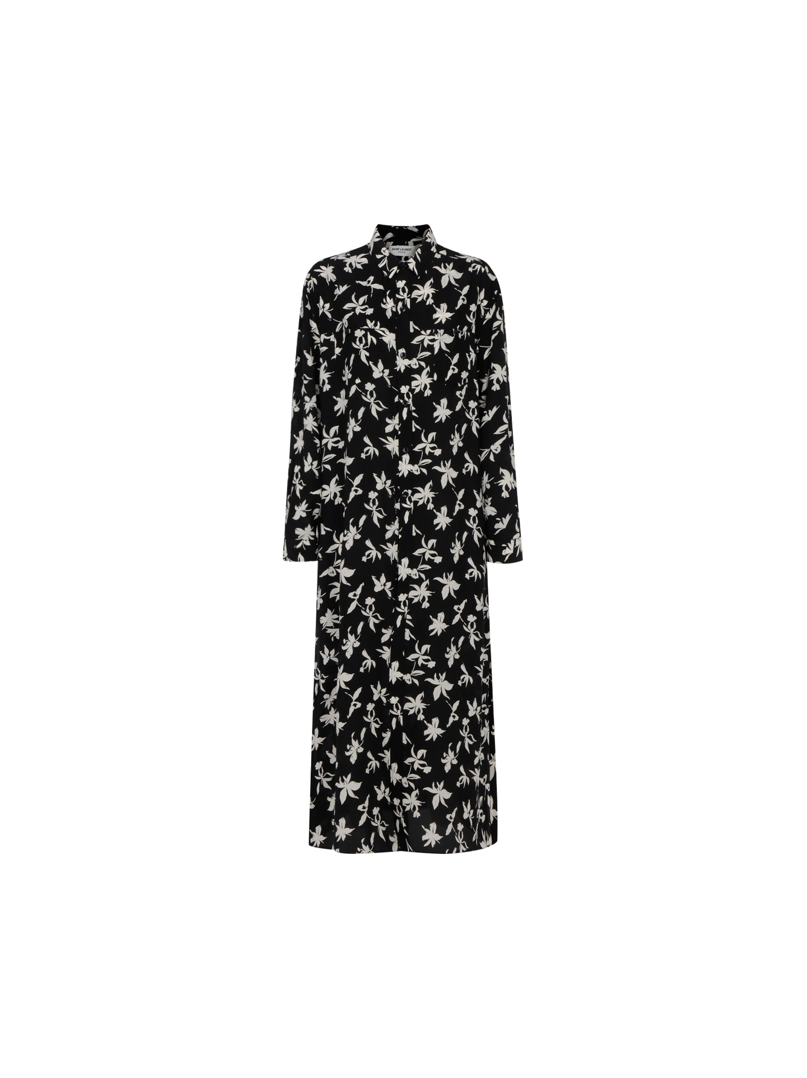 Buy Long Dress online, shop Saint Laurent with free shipping