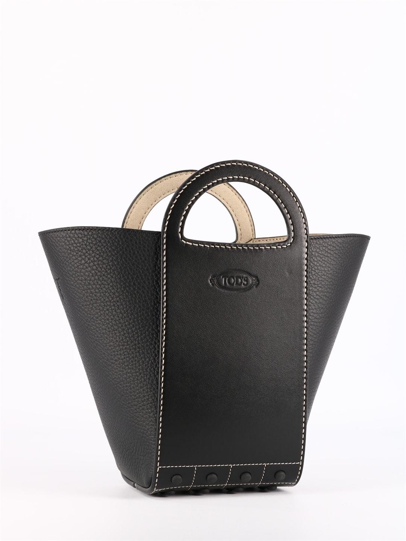 Tod's Leathers BLACK GOMMINI SHOPPING BAG