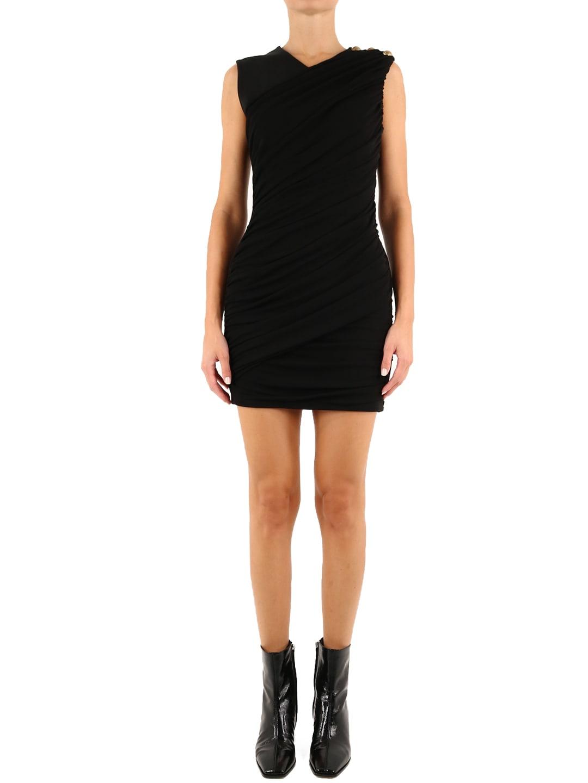 Balmain Mini Draped Dress